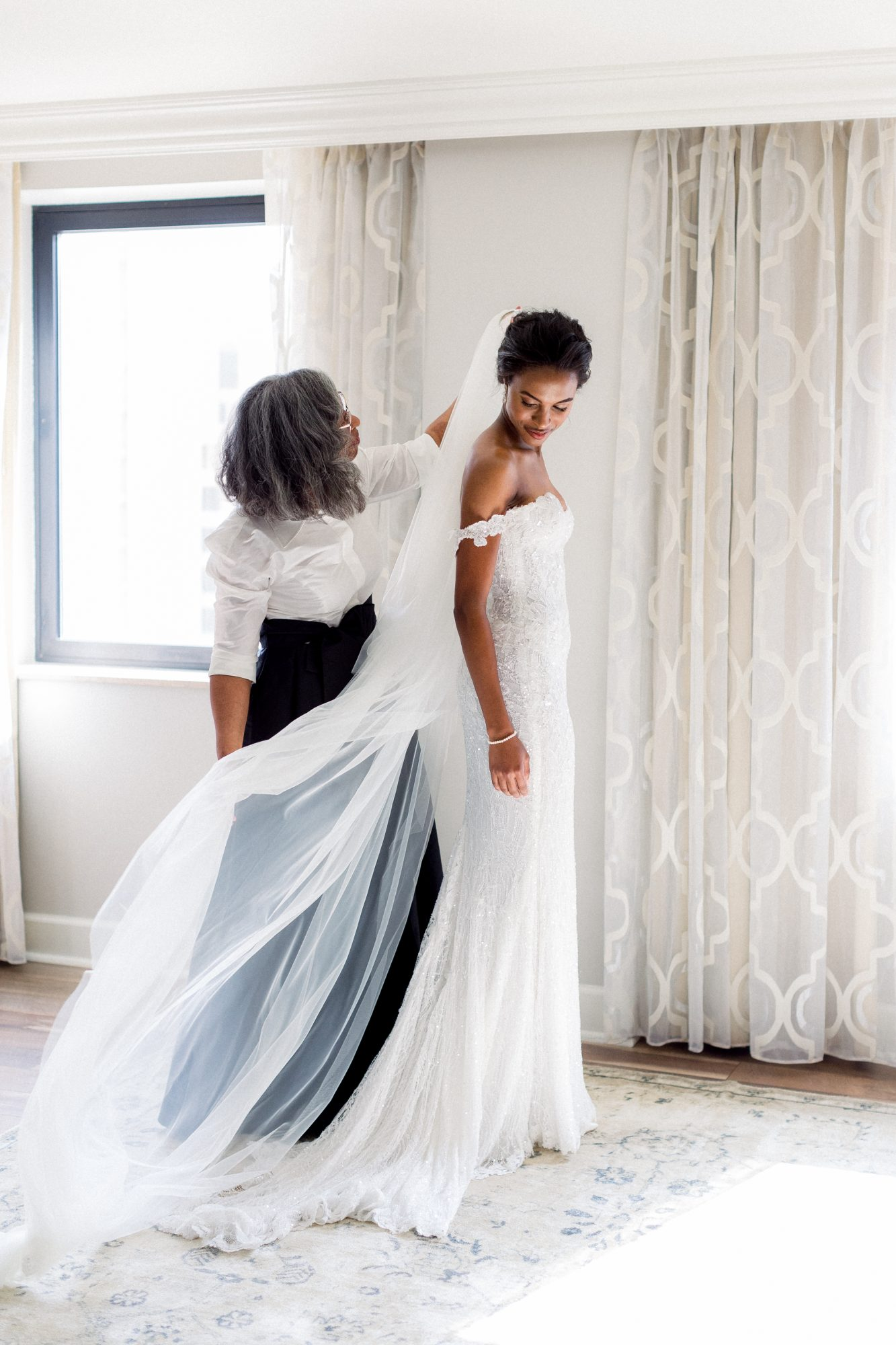 olivia collin wedding bride getting ready with mother