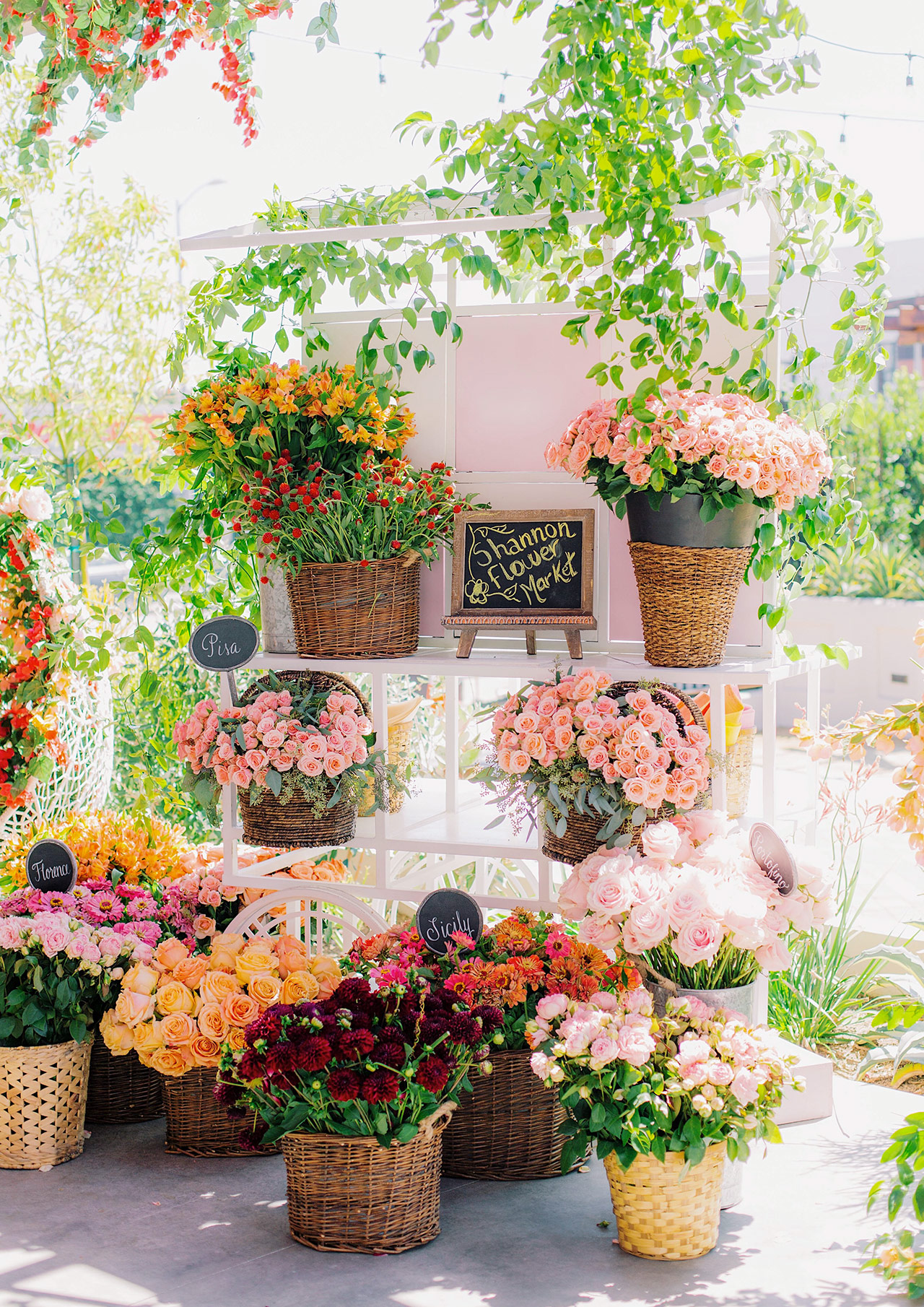 summer bridal shower ideas flower market