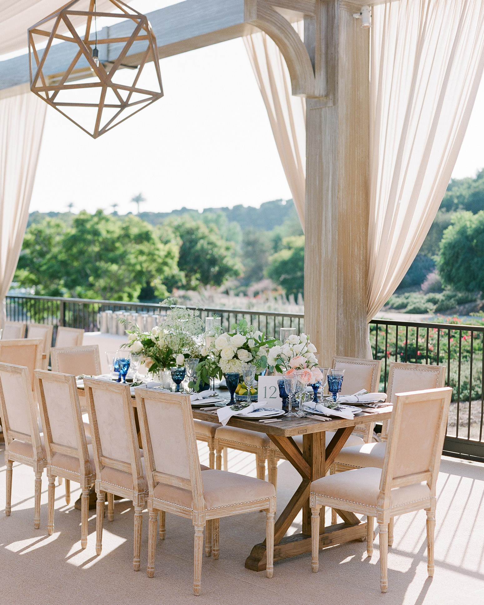 wedding wood reception table and chairs