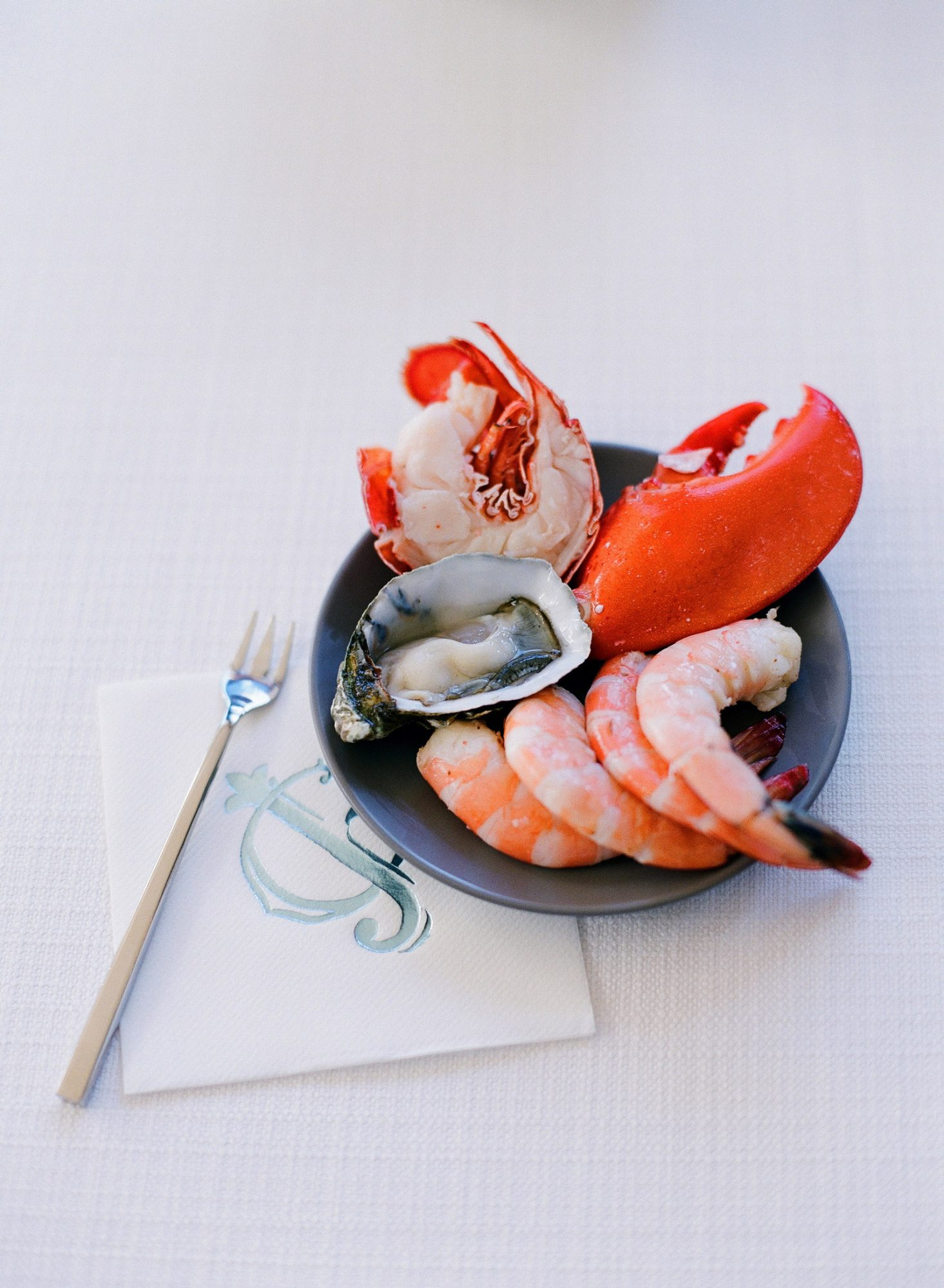 small dish of seafood