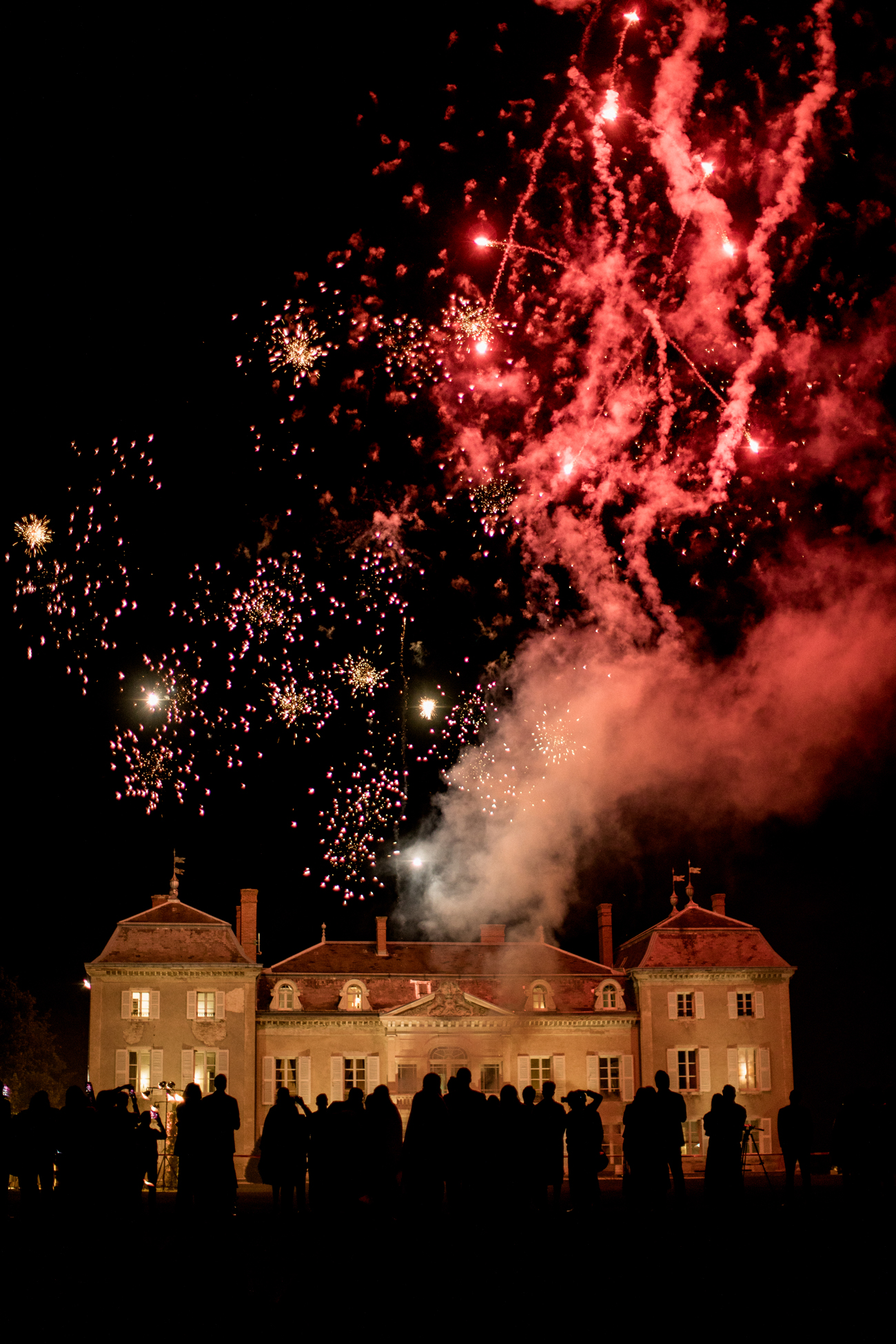 fireworks display after wedding day