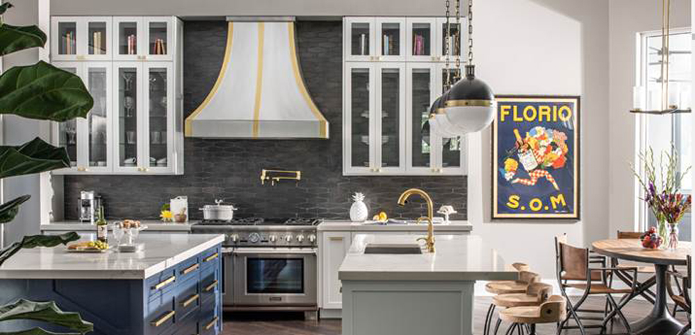 charcoal-colored backsplash