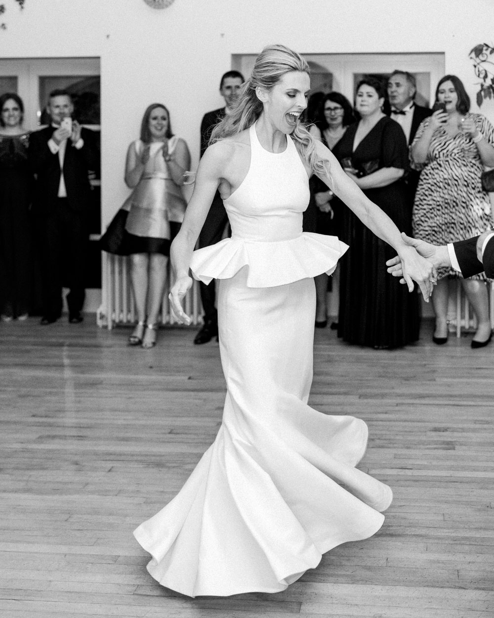 blathnaid daire wedding bride dancing