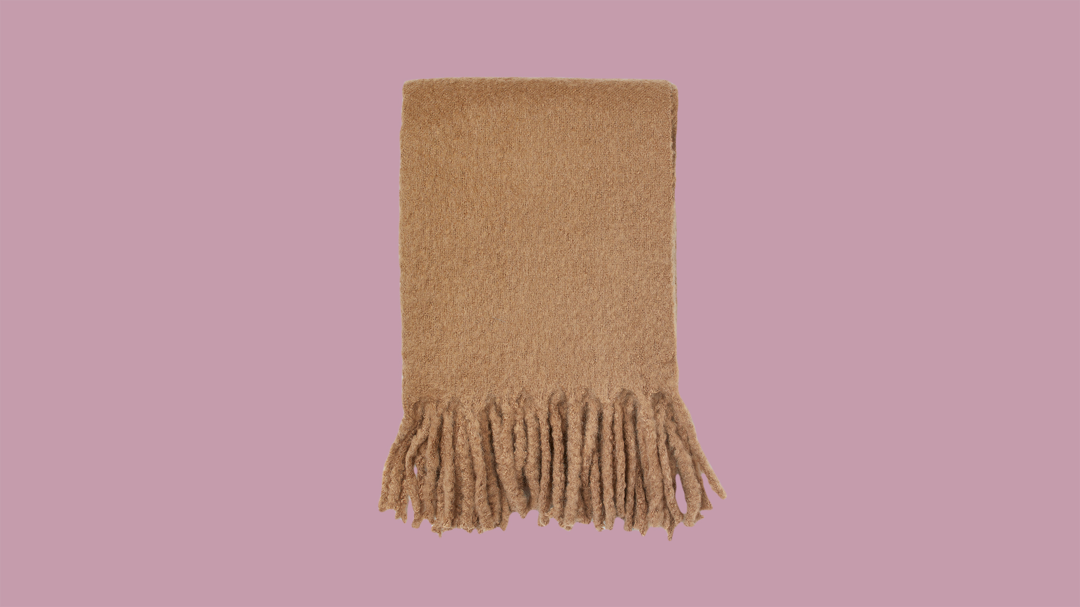 cozy brown throw blanket with tassels