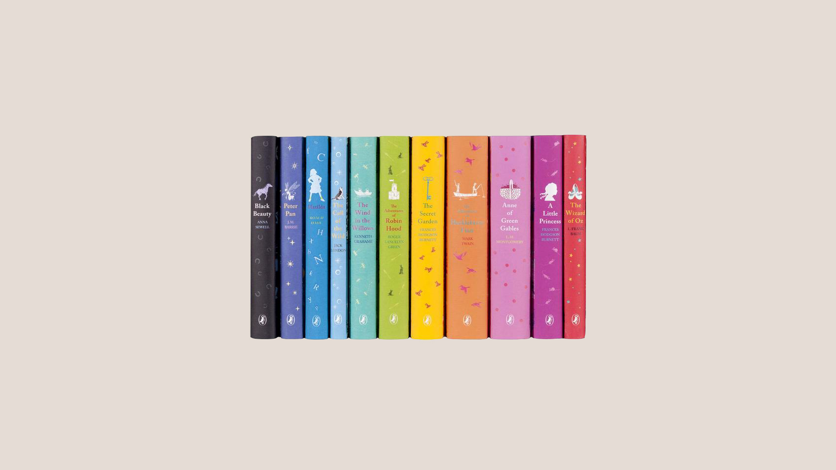 colorful collection of classic books