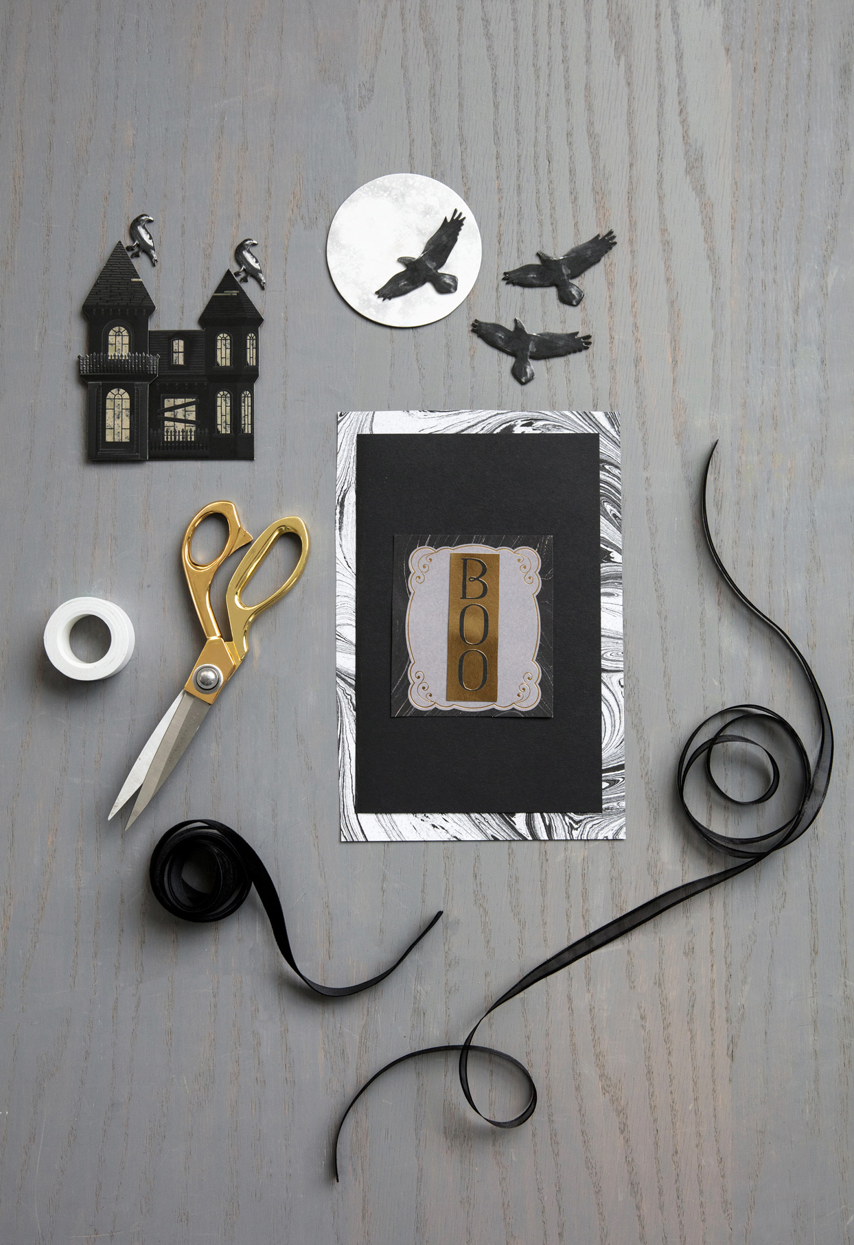 halloween party invitation craft materials