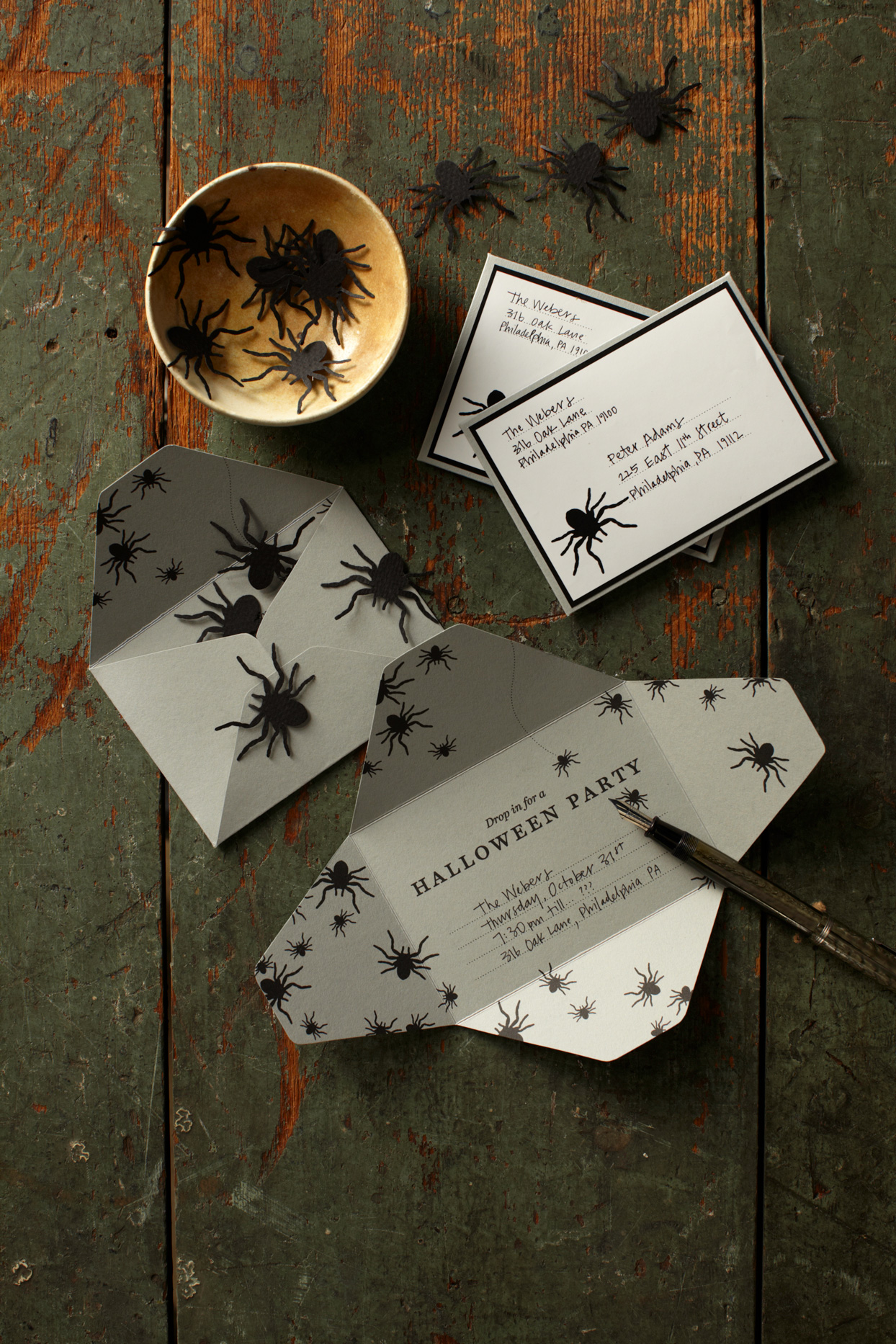 spider halloween invitations