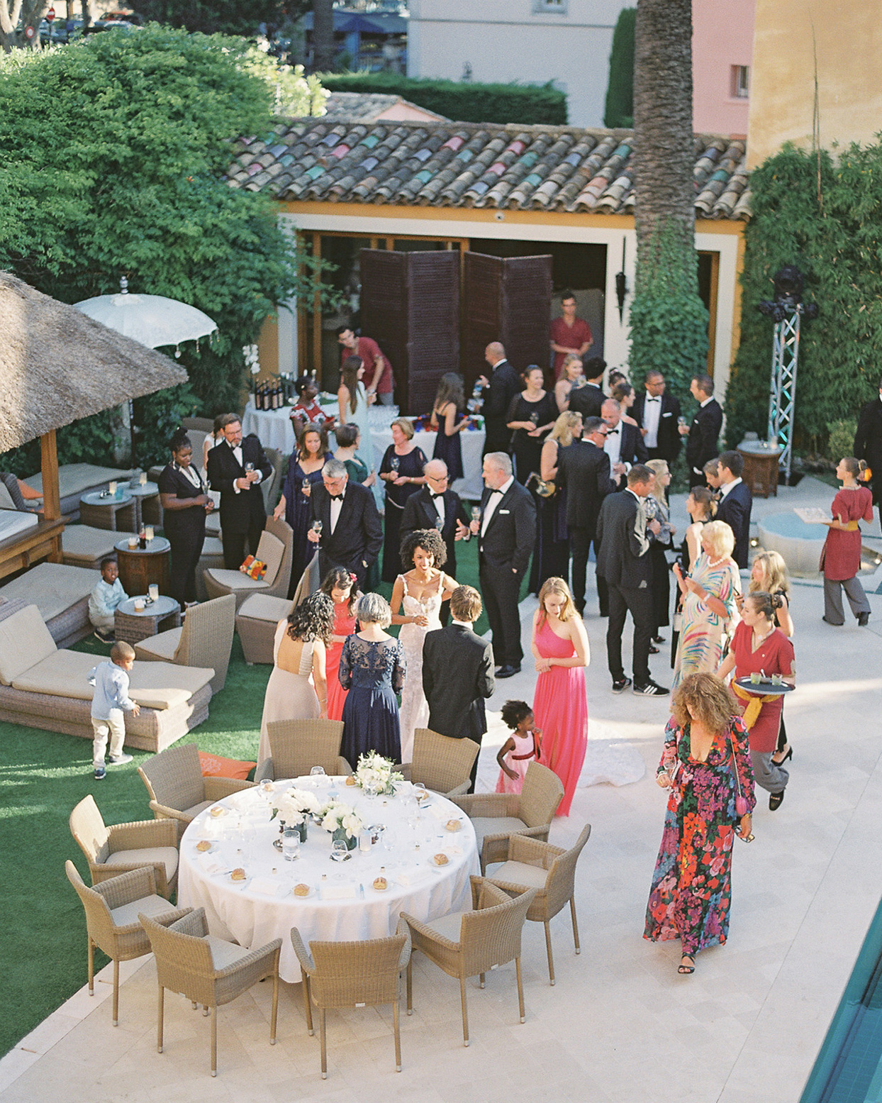 patricia ralph wedding cocktail hour from above