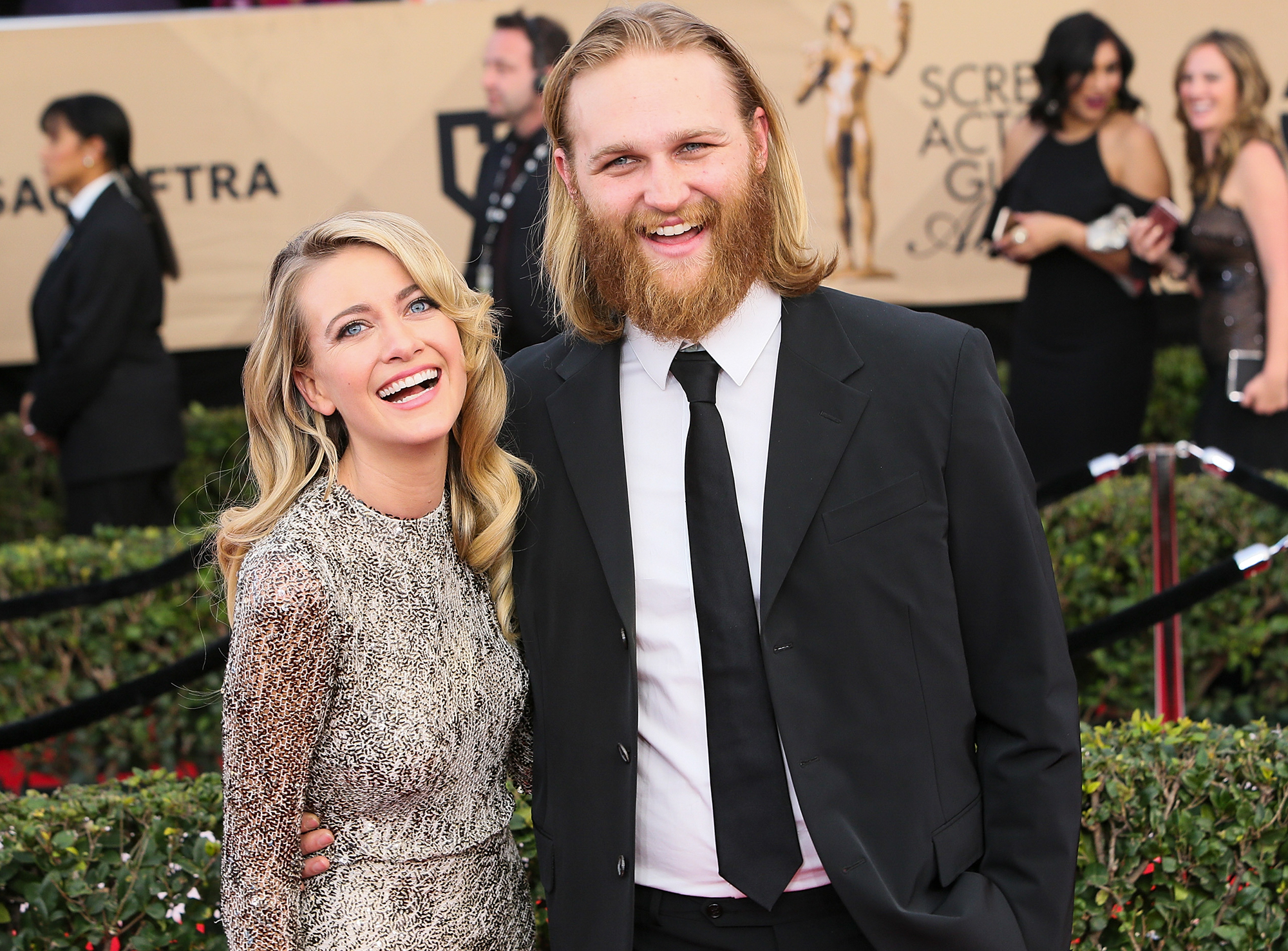 Wyatt Russell and Meredith Hagner