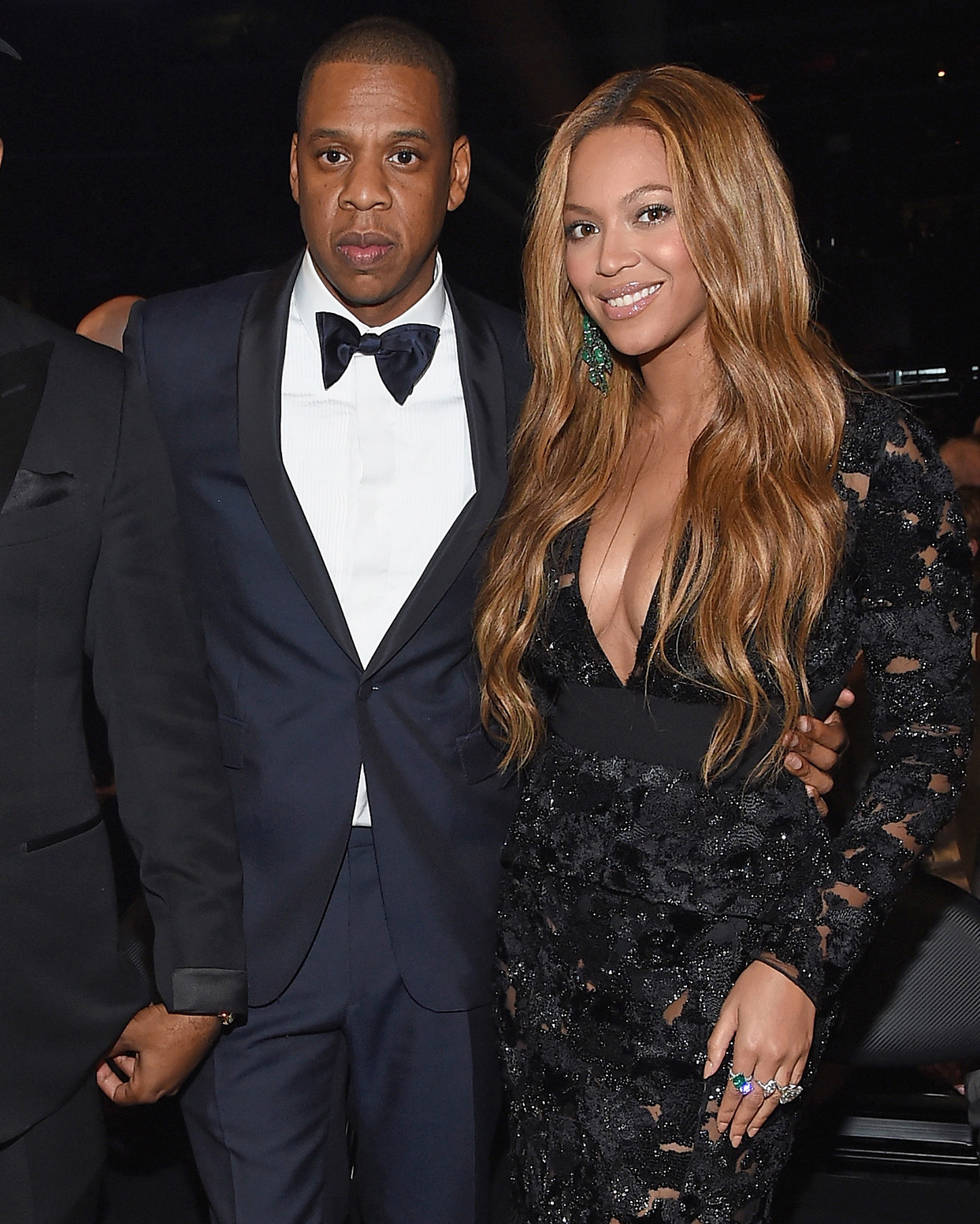 beyonce and jay z wearing black