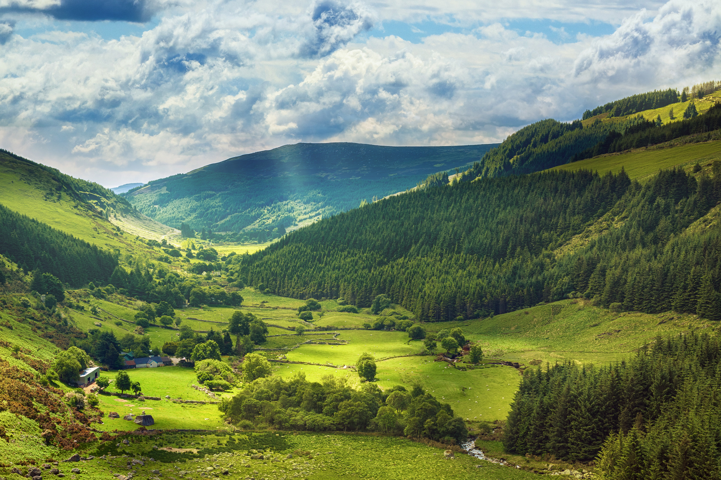 Irish Countryside and Valley