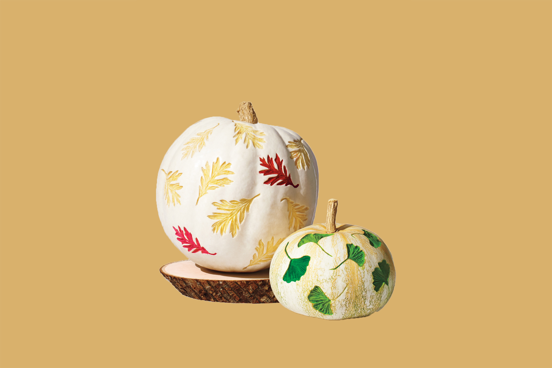 Etched Watercolor Pumpkins