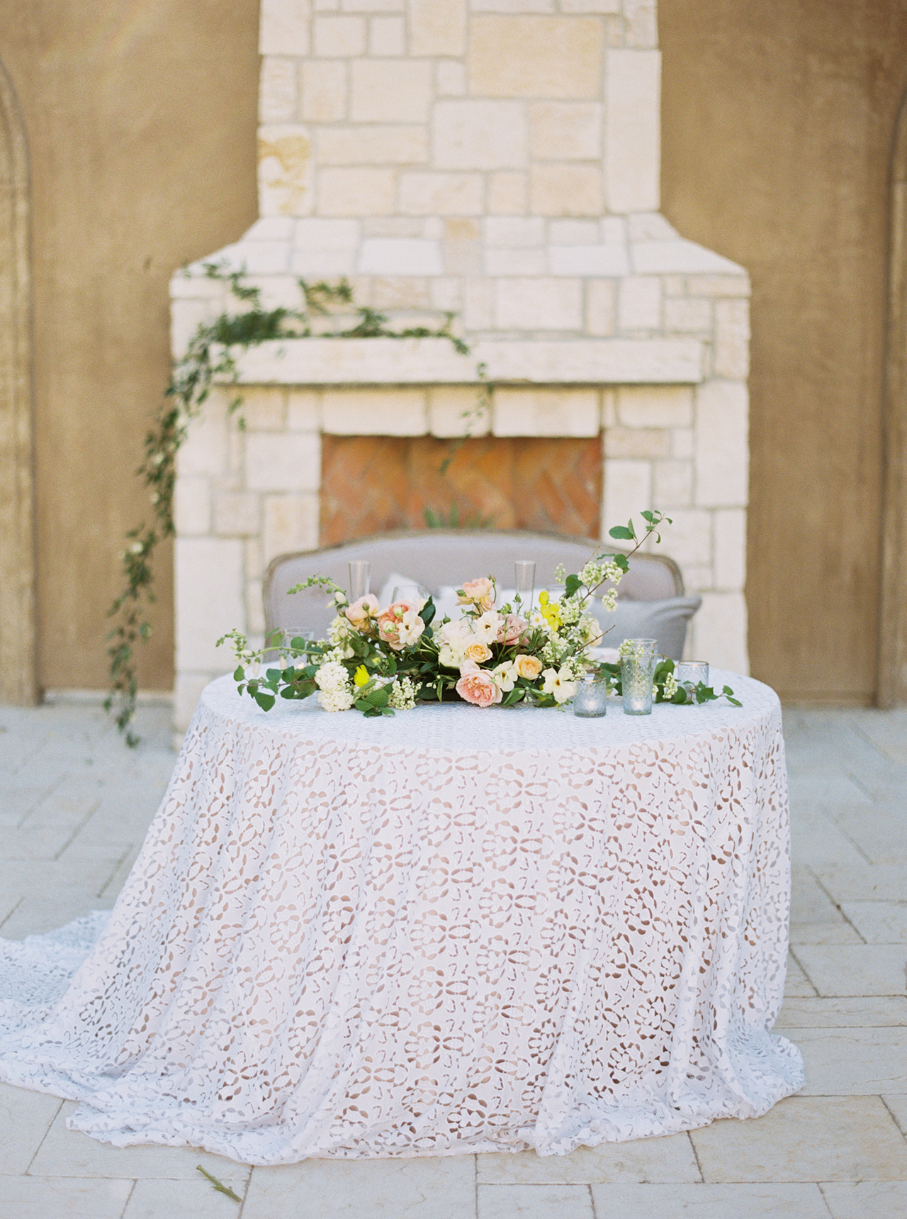 wedding reception sweetheart table lace table cloth