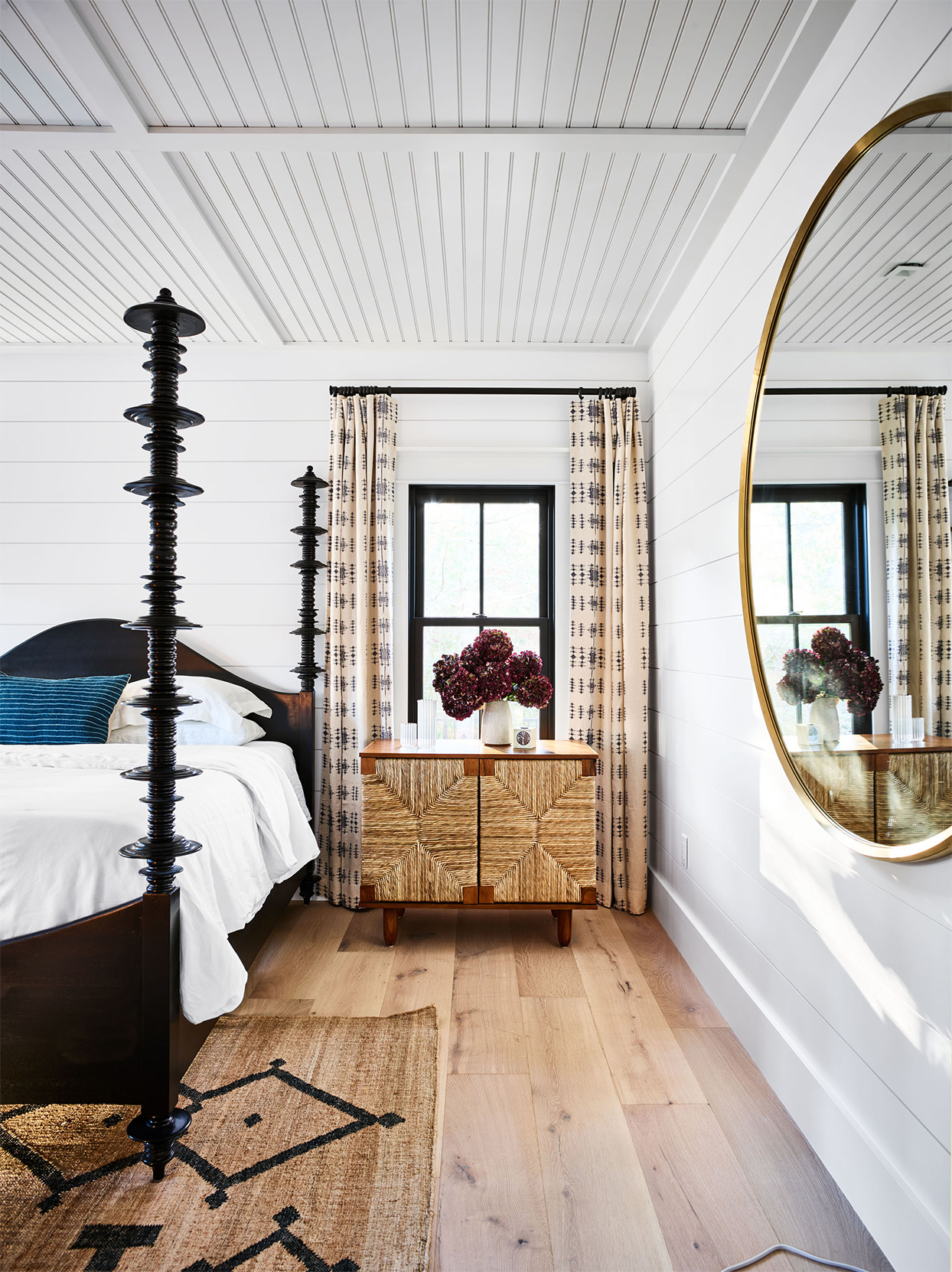 four-poster bed in cape cod home