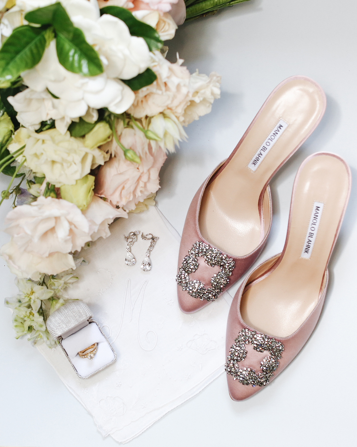 pia davide wedding bride accessories pink shoes