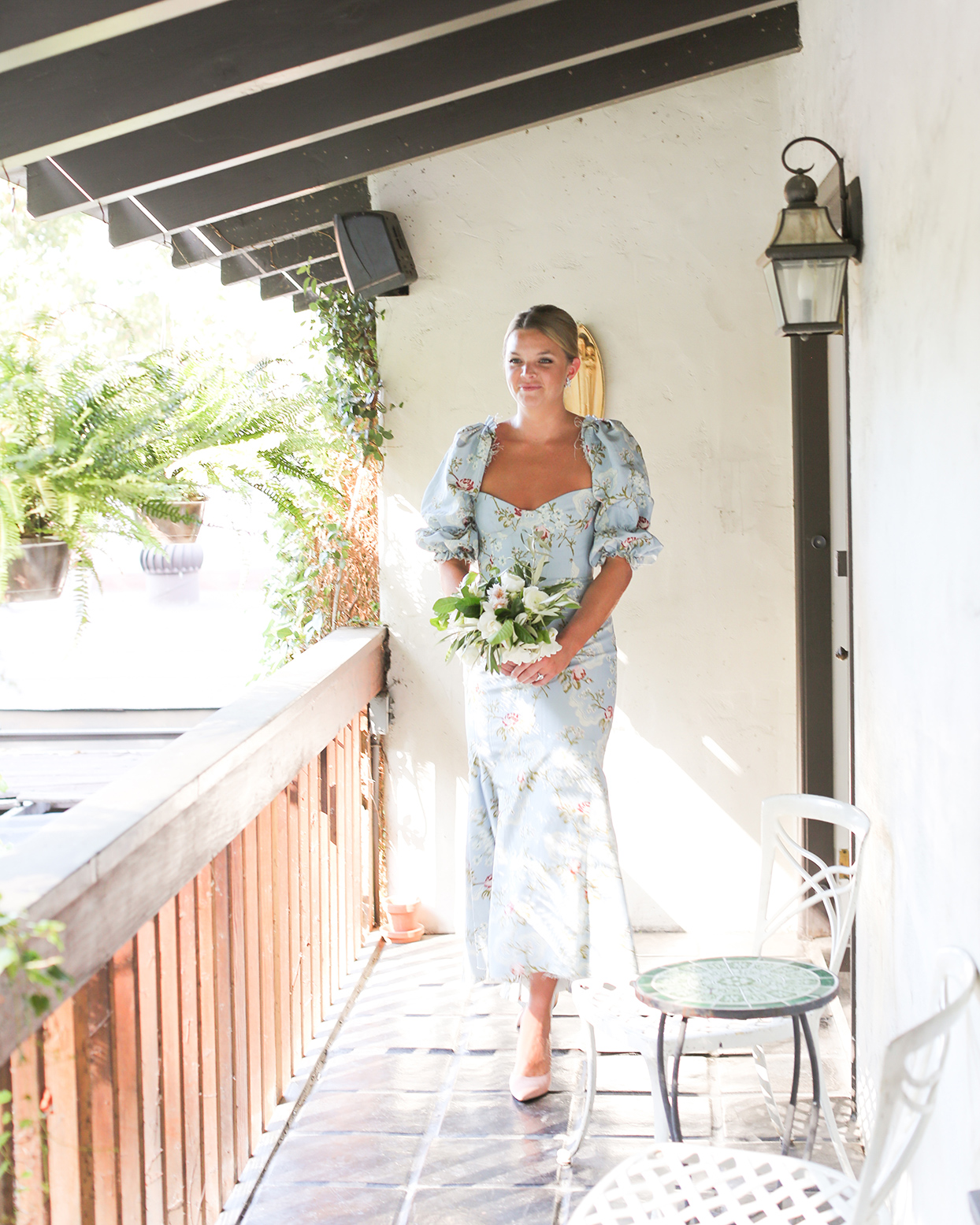 pia davide wedding bridesmaid in pastel blue