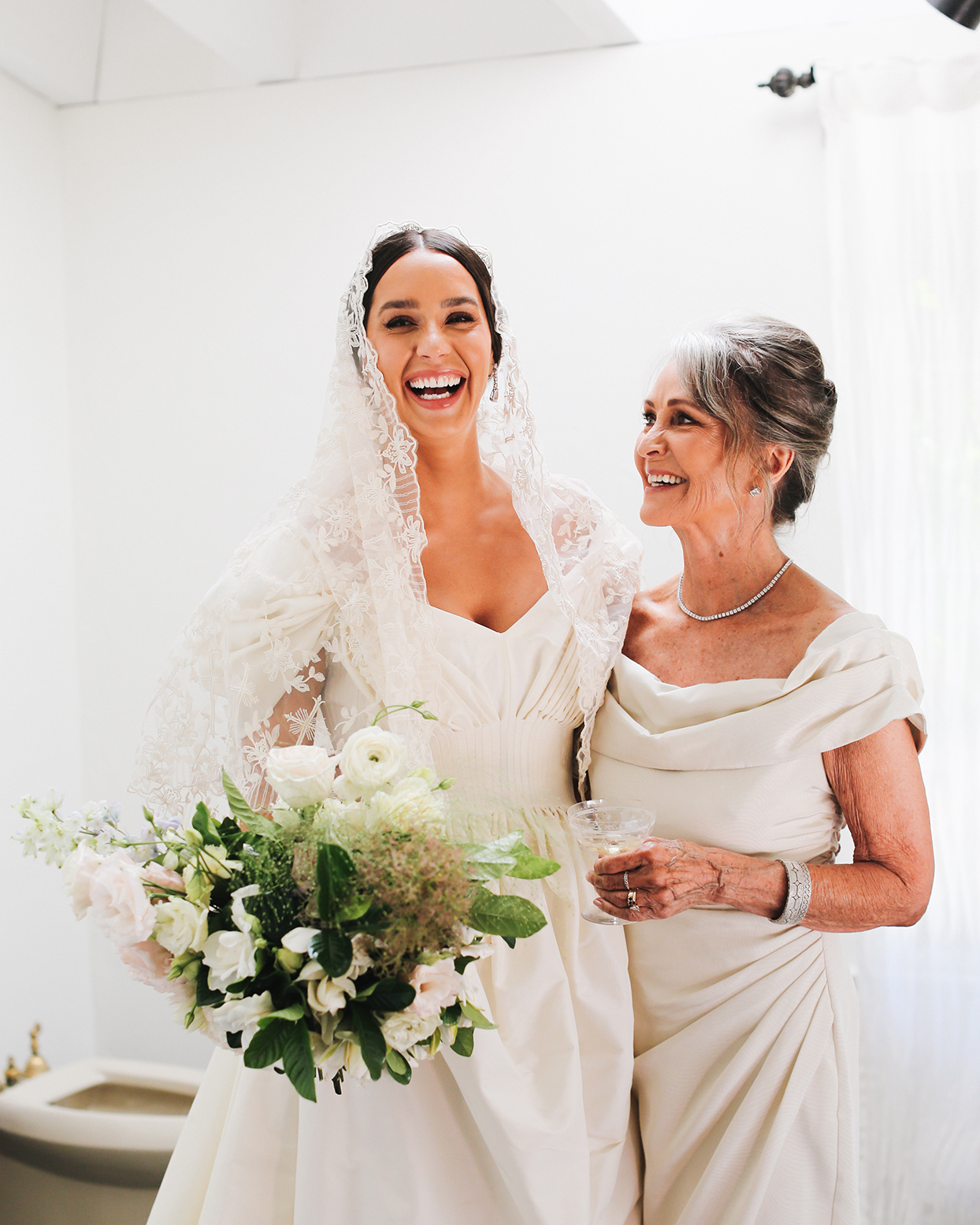 pia davide wedding bride and mother
