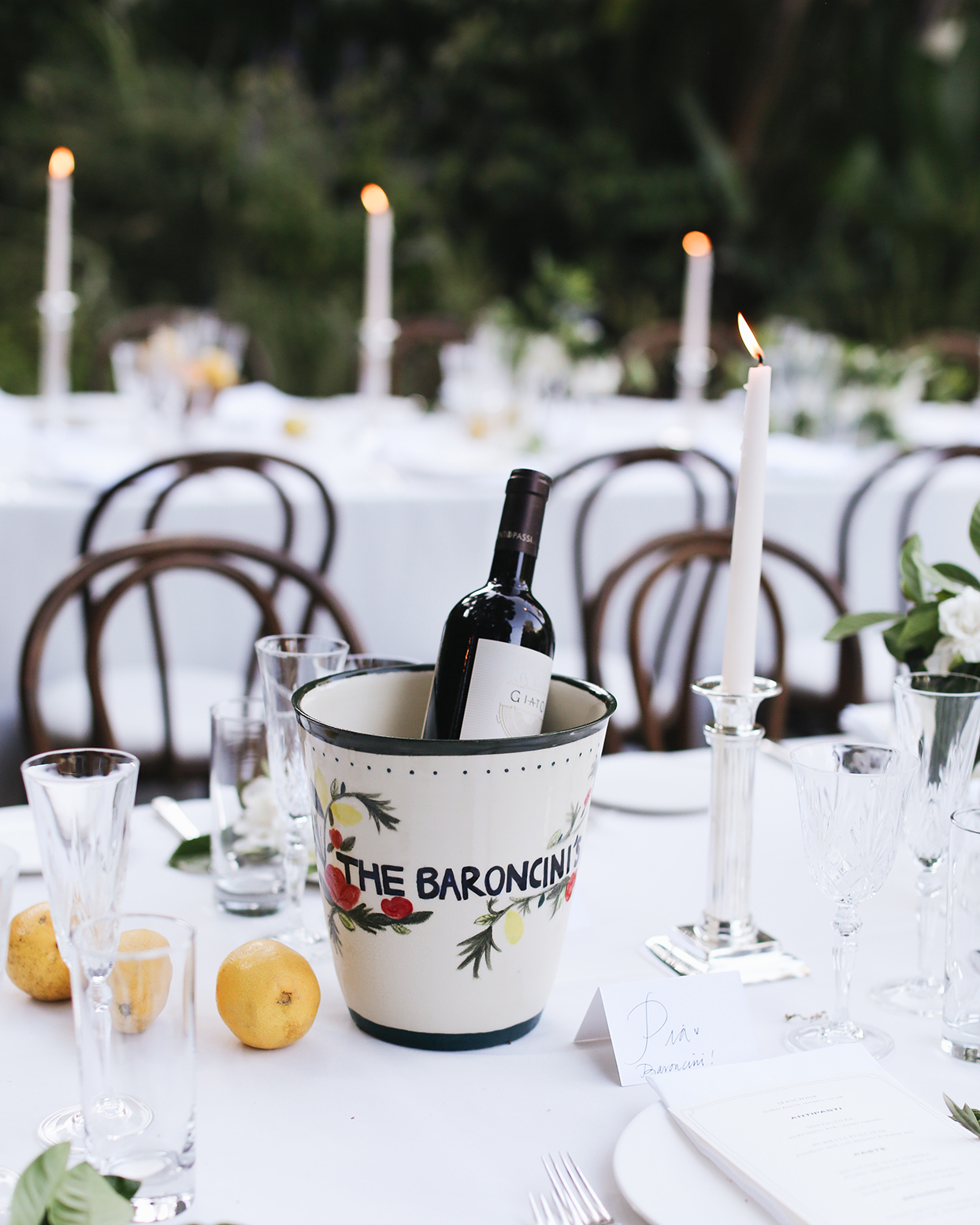 pia davide wedding personalized wine cooler