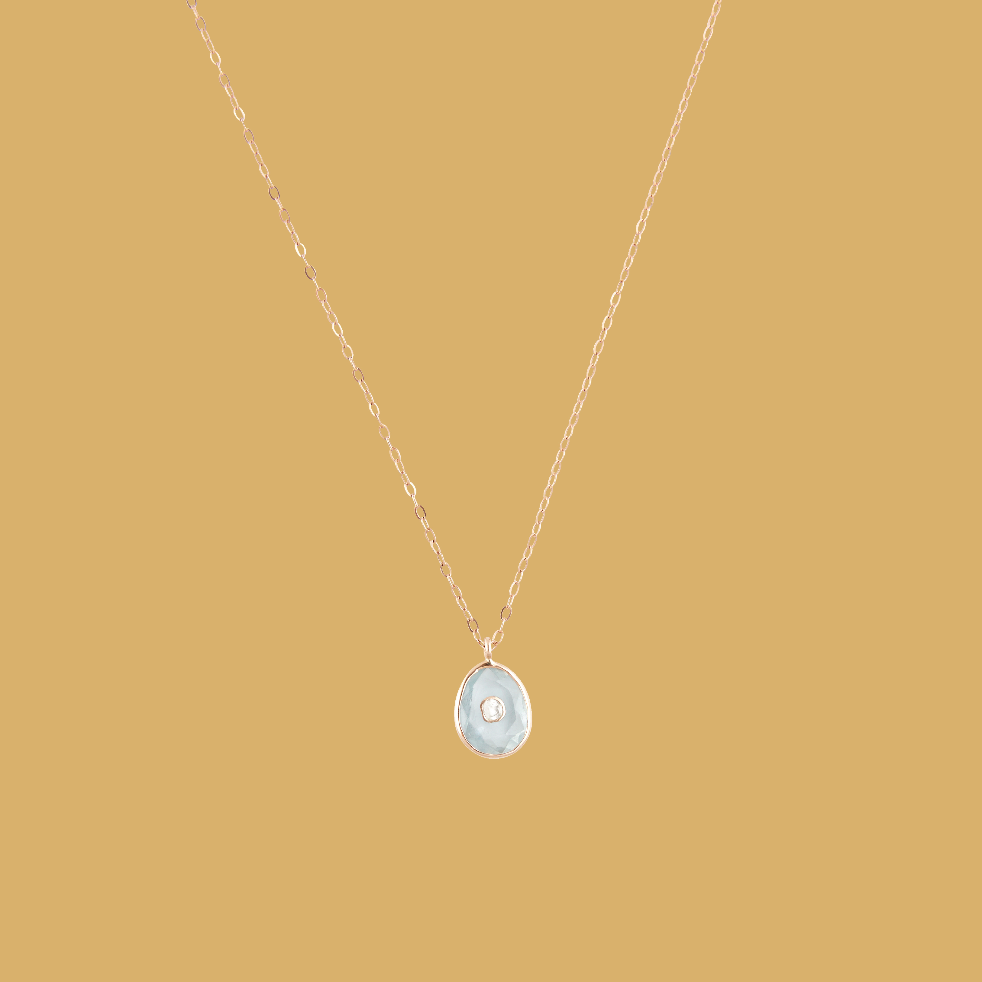 Pascale Monvoisin aquamarine diamond necklace