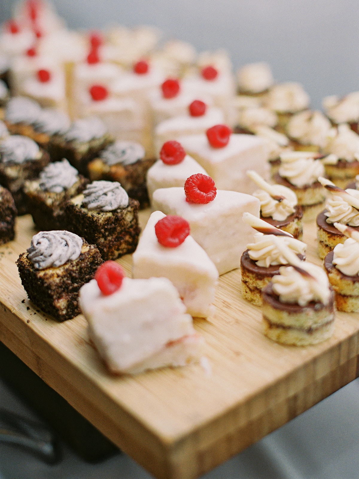 wedding reception petite desserts treat bar
