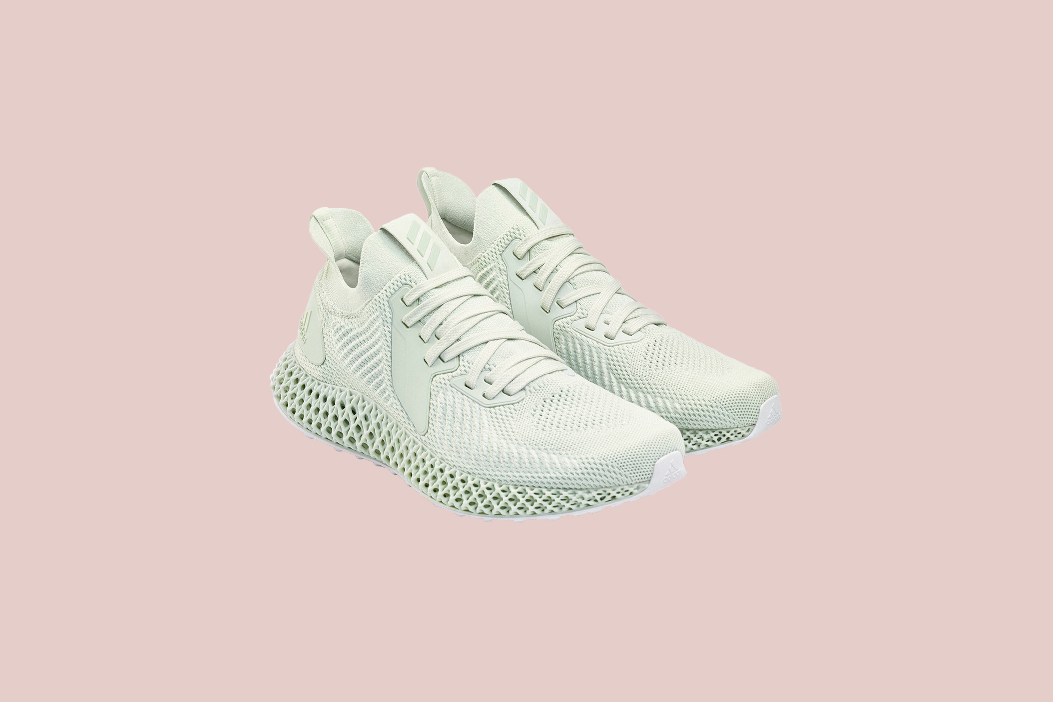 pale green addidas sneakers
