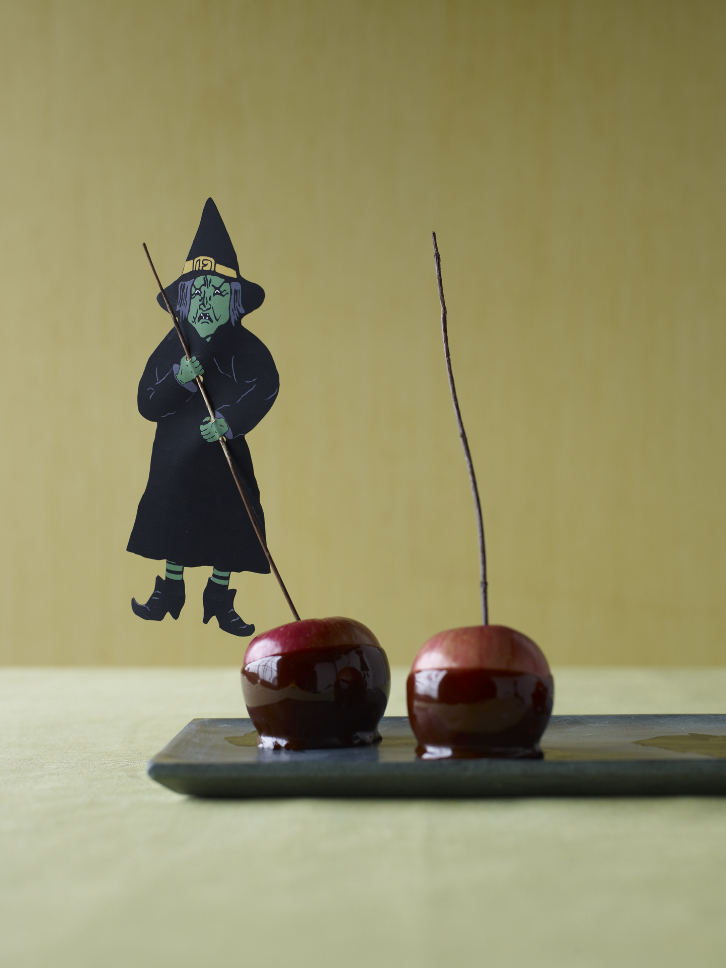 Halloween witch candy apples