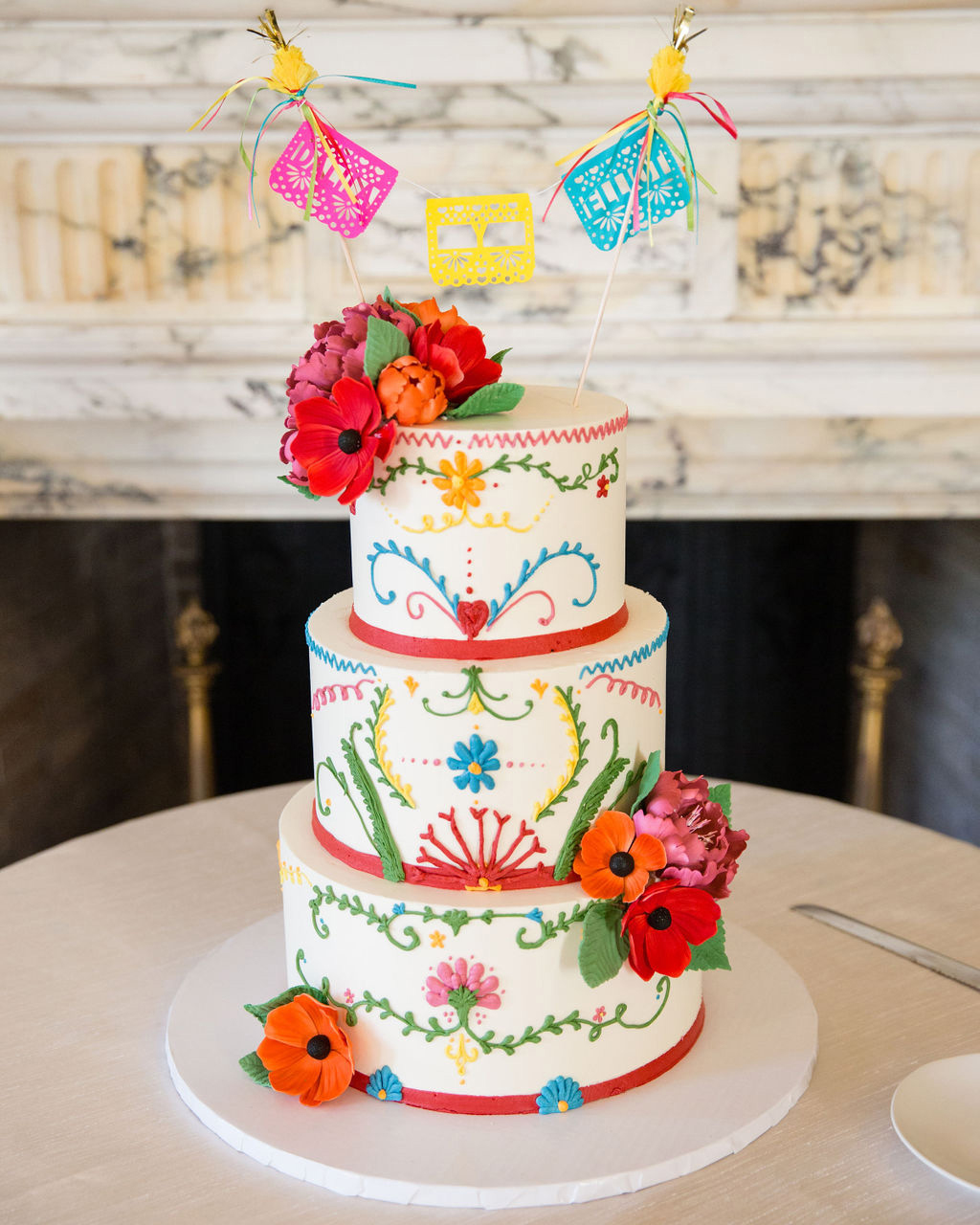 A Colorful Wedding Cake