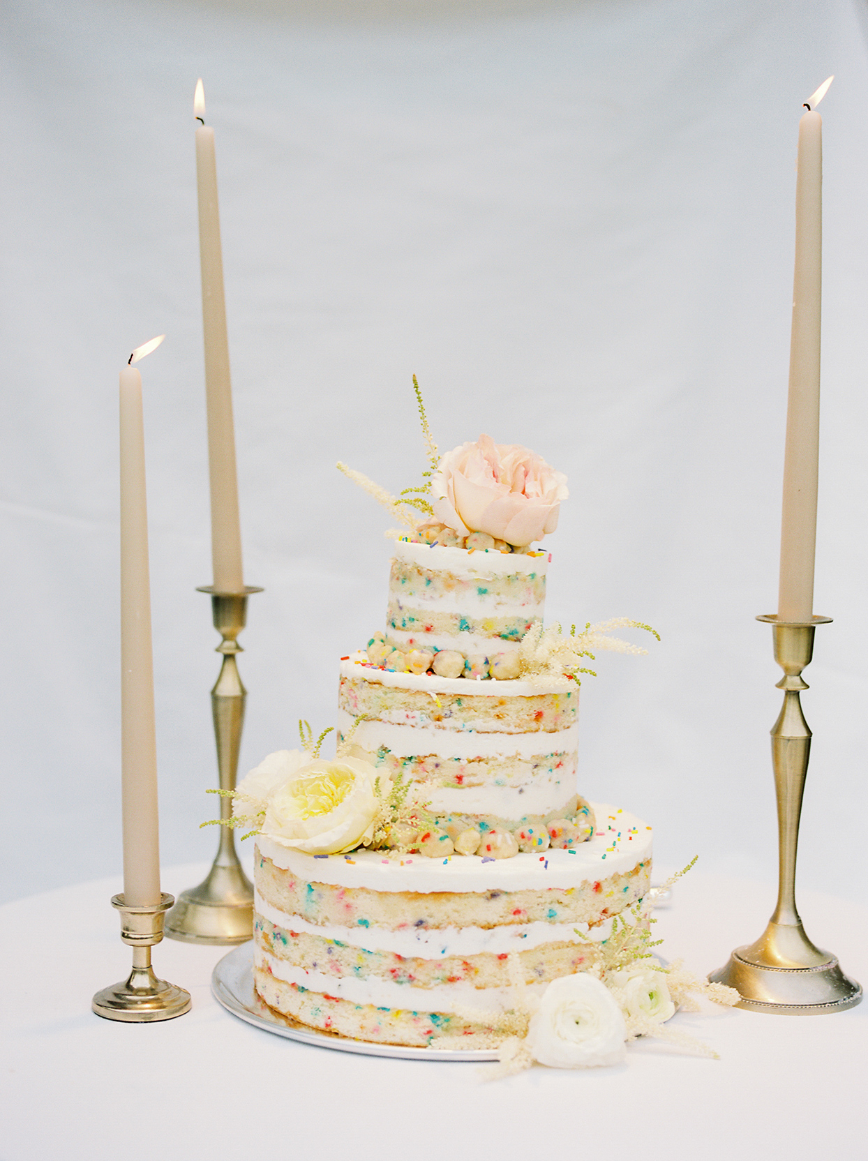 mika steve funfetti naked wedding cake