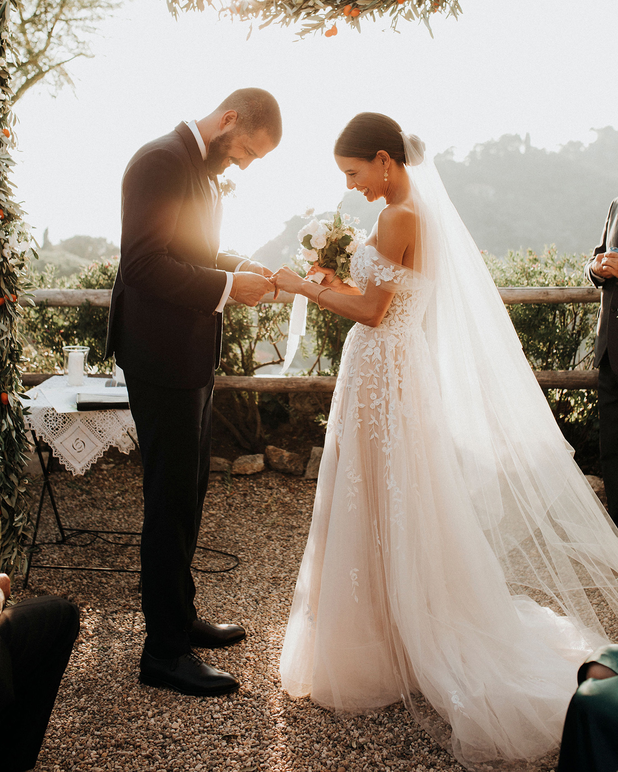 jaclyn antonio wedding ceremony ring exchange
