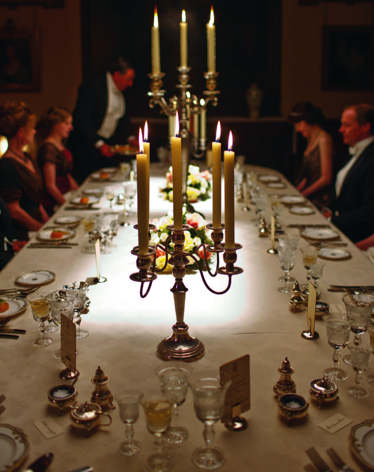 People seated at dining table