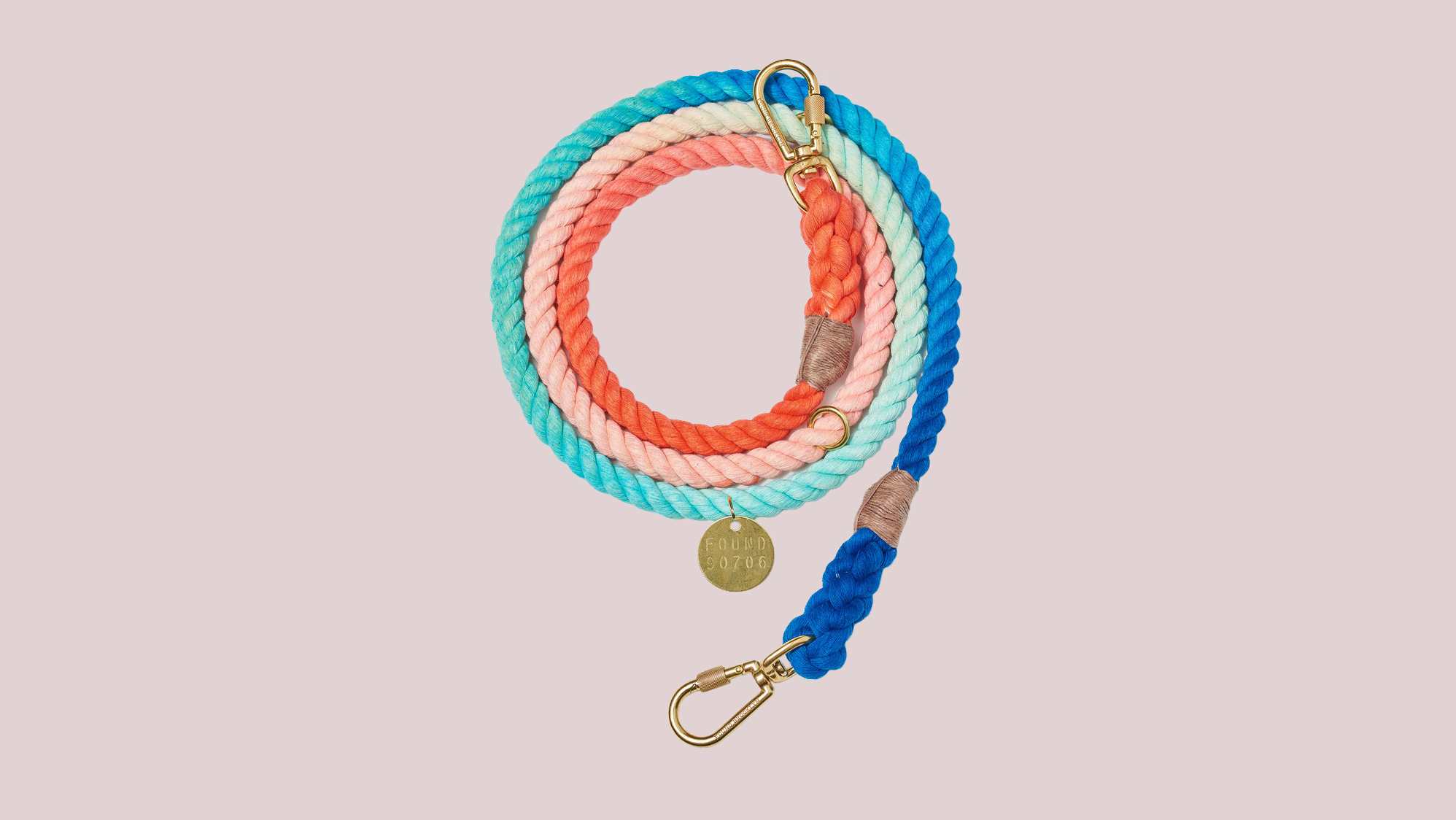 Ombré Rope Dog Leash