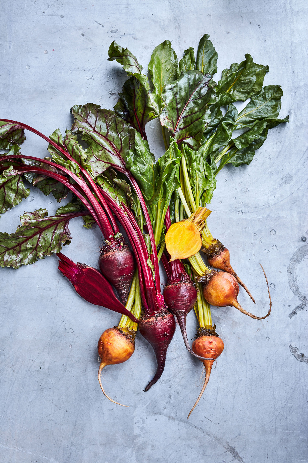 bundle of colorful beets