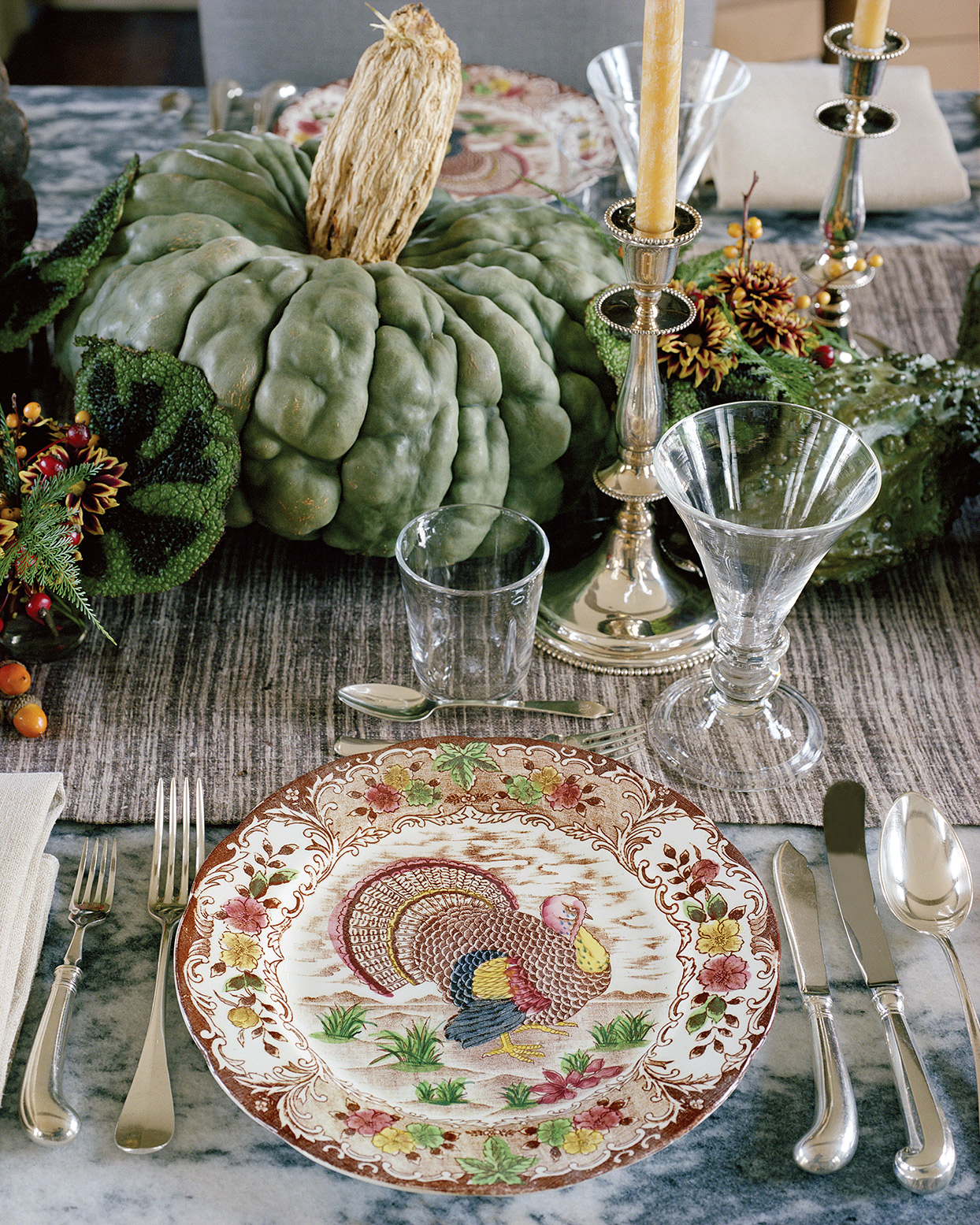 martha stewart thanksgiving place setting