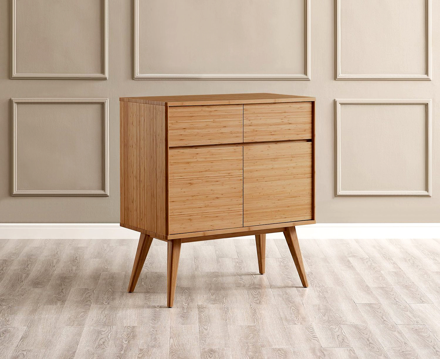 Greenington mid-century modern bamboo side table