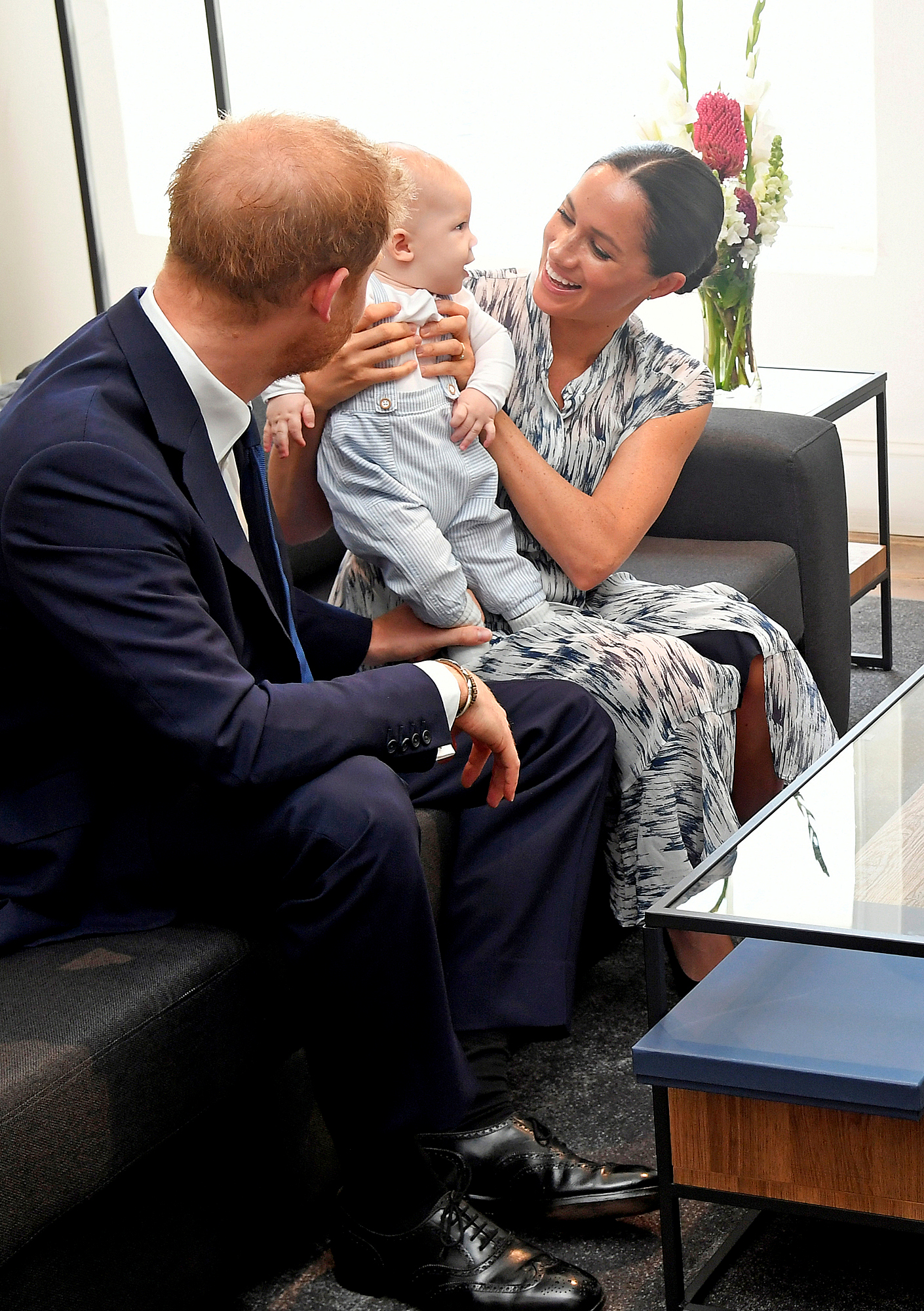 Prince Harry and Meghan Markle with Archie Harrison in South Africa