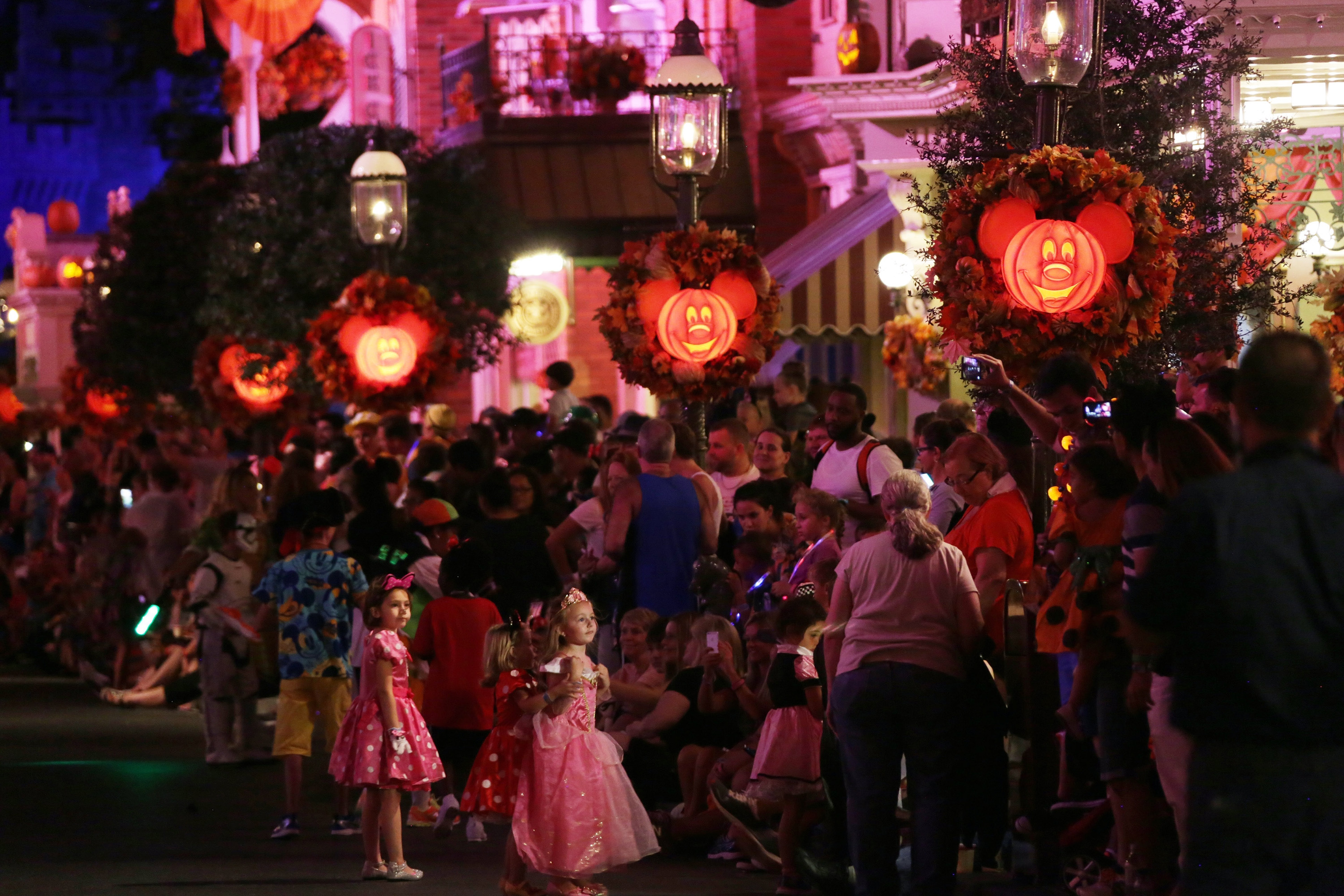 Halloween at the Theme Park in Orlando, Florida