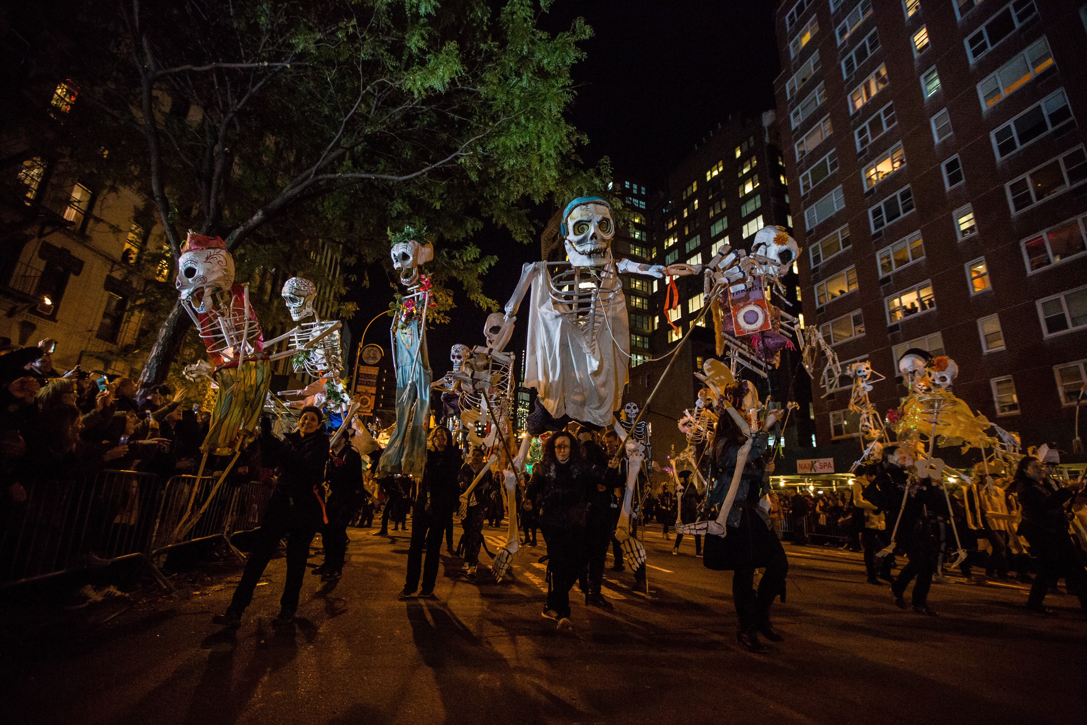 Greenwich Village Halloween Parade skeleton dance