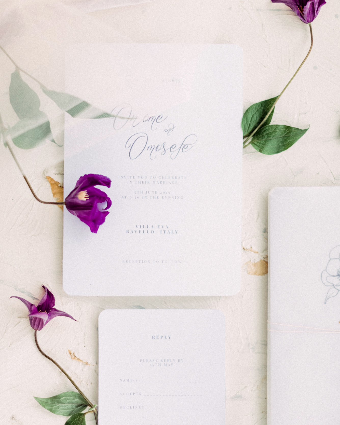 onome efe wedding invitations stationery suite