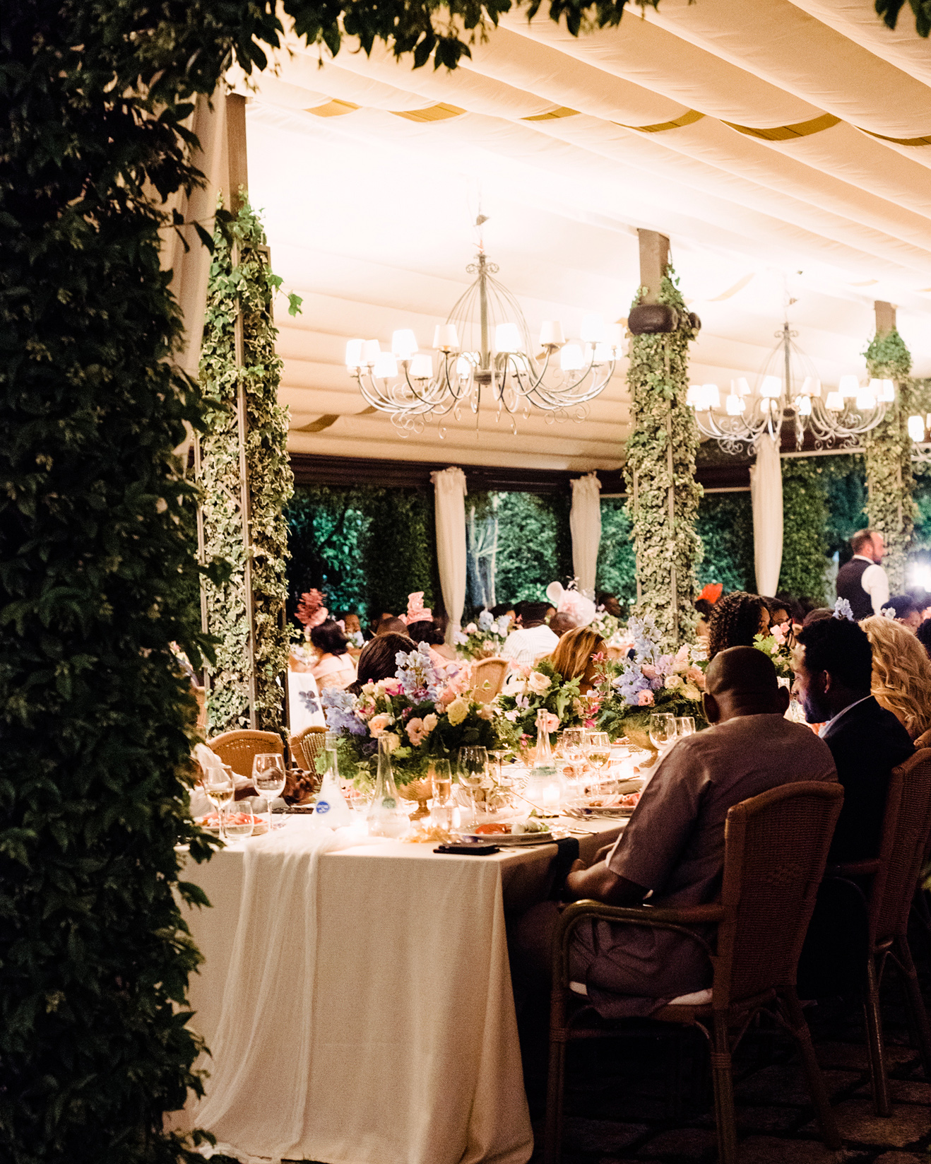 onome efe wedding reception tables and guests
