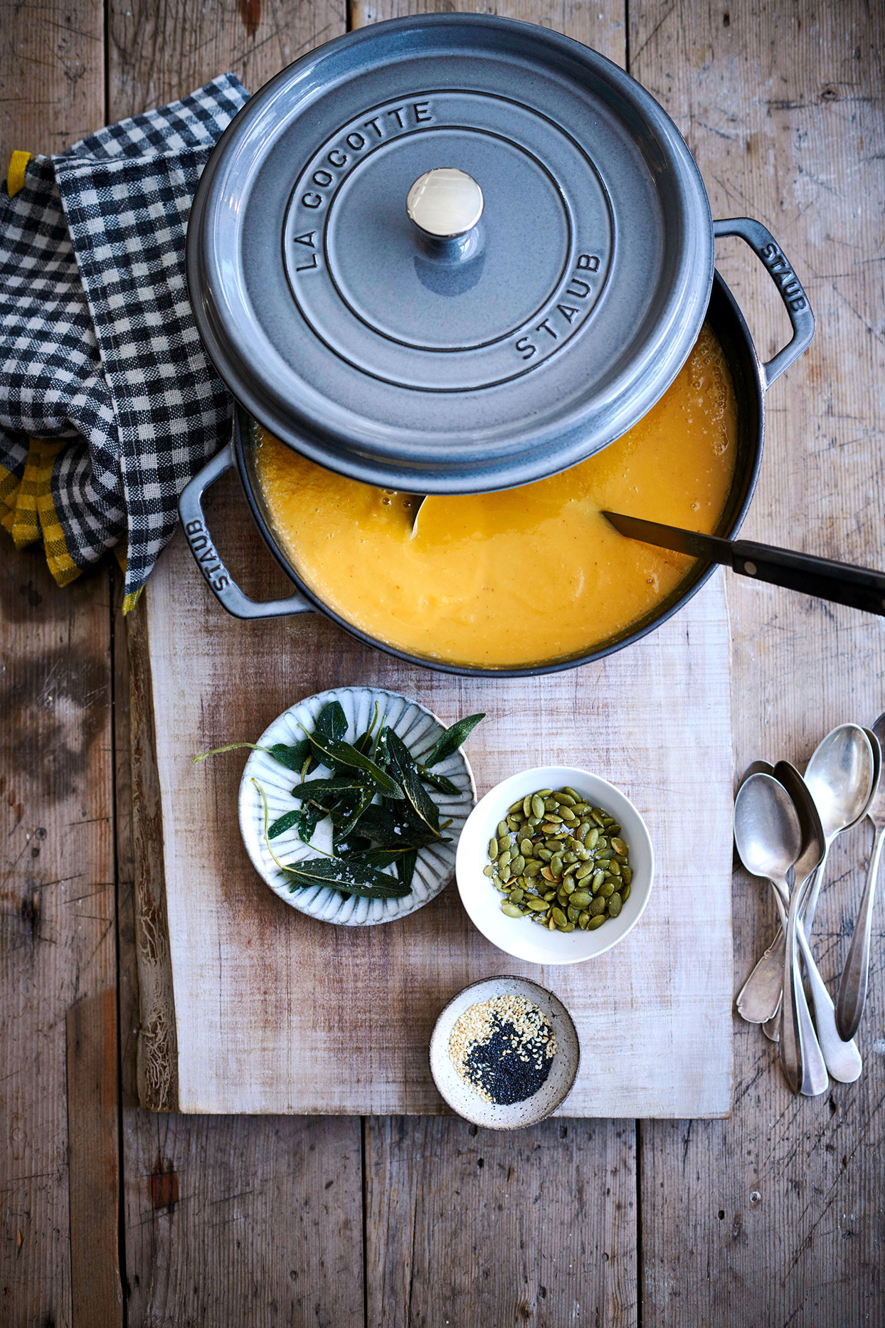 roasted squash and parsnip soup