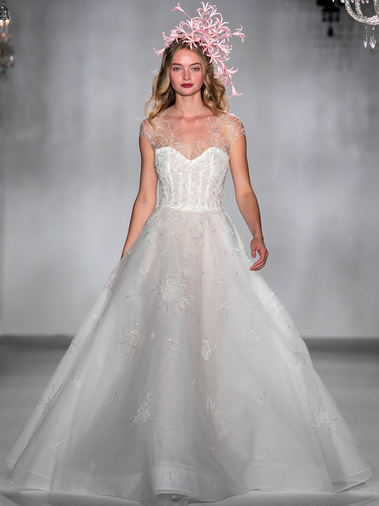 anne barge illusion high neck ball gown wedding dress fall 2020