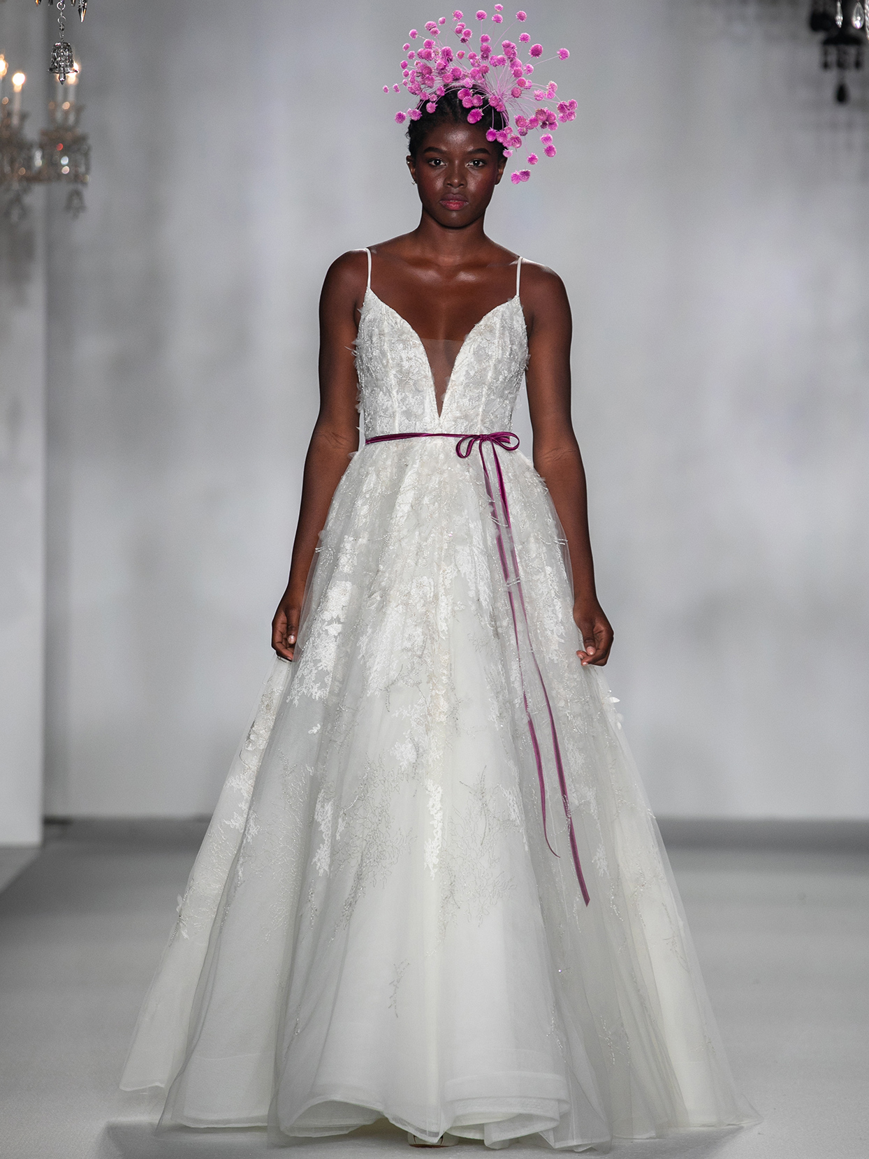 anne barge spaghetti strap plunging v neck wedding dress fall 2020