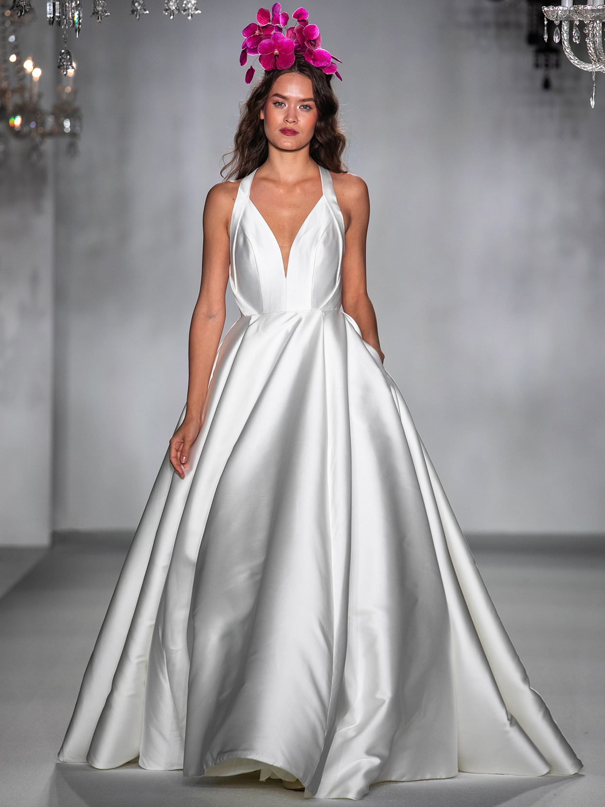 anne barge v neck ball gown wedding dress fall 2020