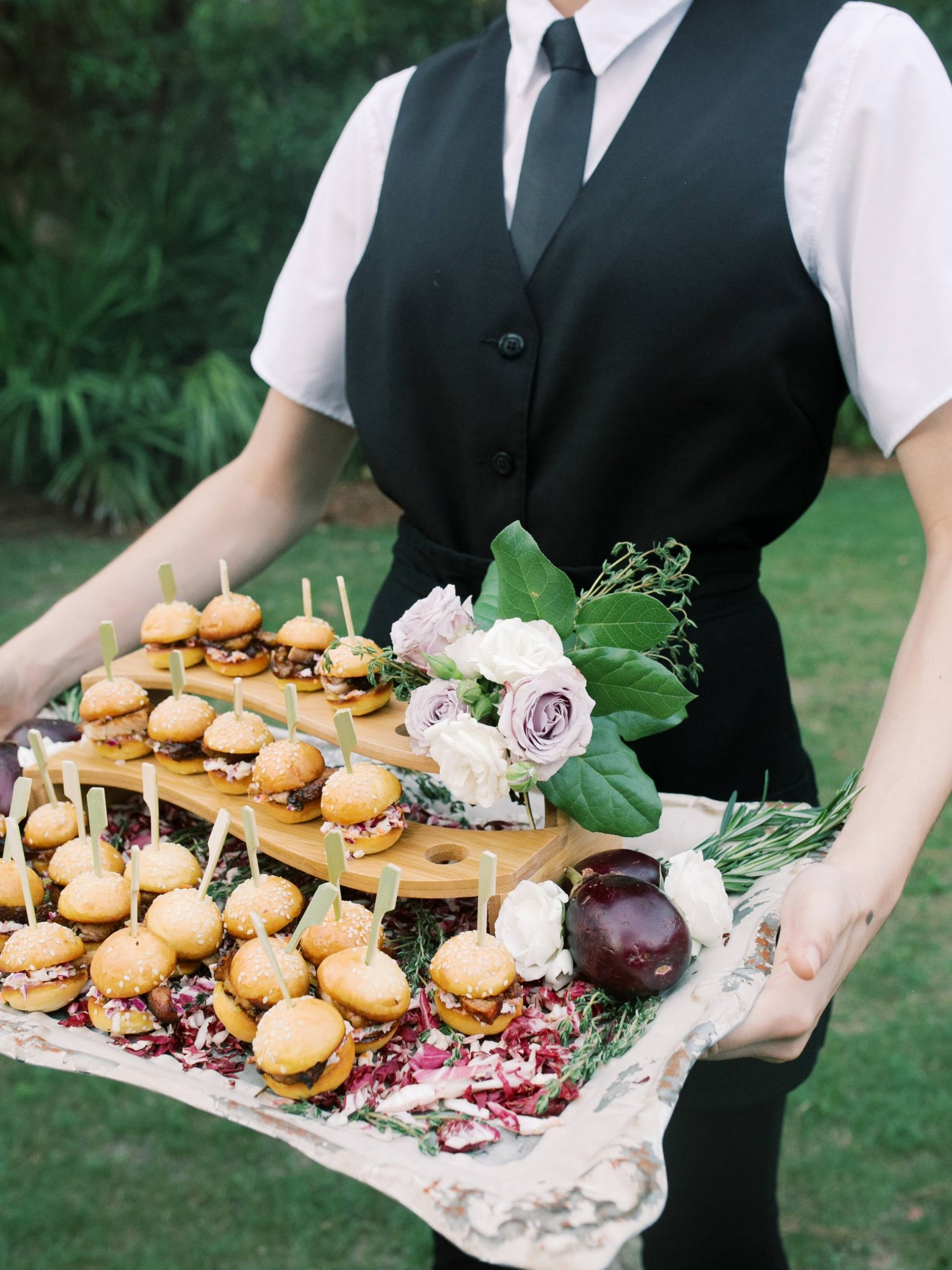 leighton craig wedding food tray with sliders