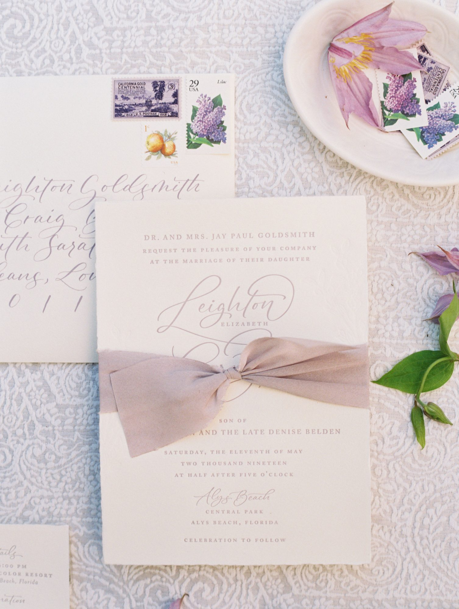 leighton craig wedding invites