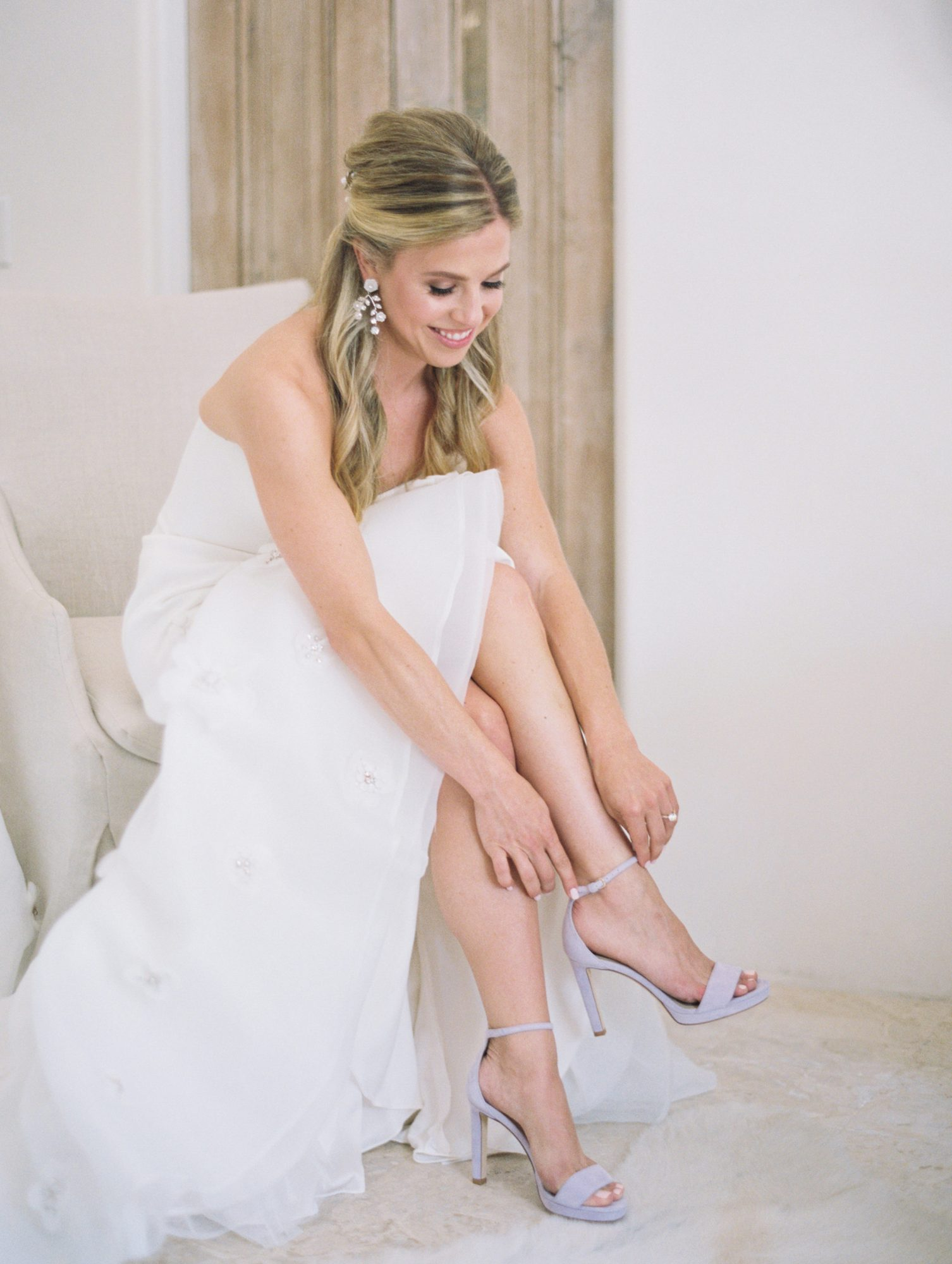 leighton craig wedding lavendar shoes