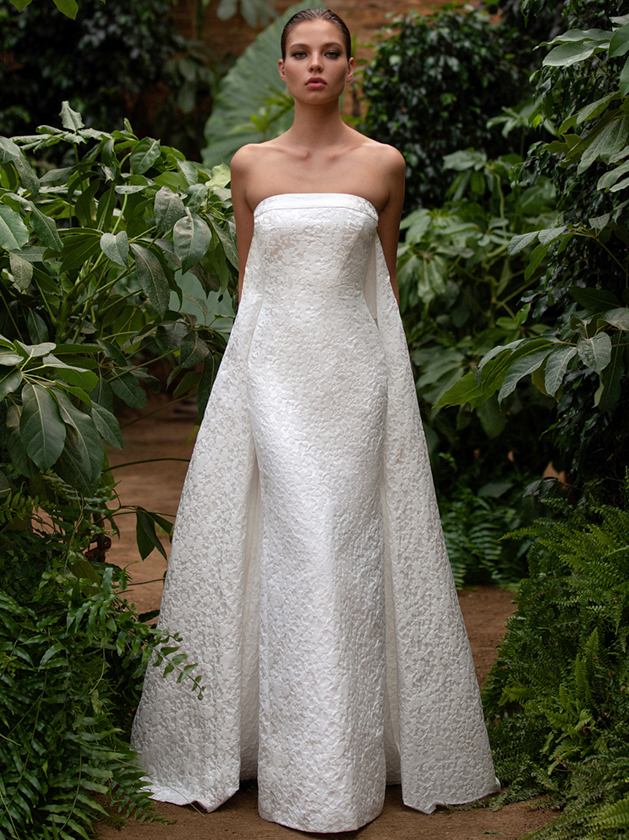 Zac Posen For White One strapless sheath wedding dress fall 2020