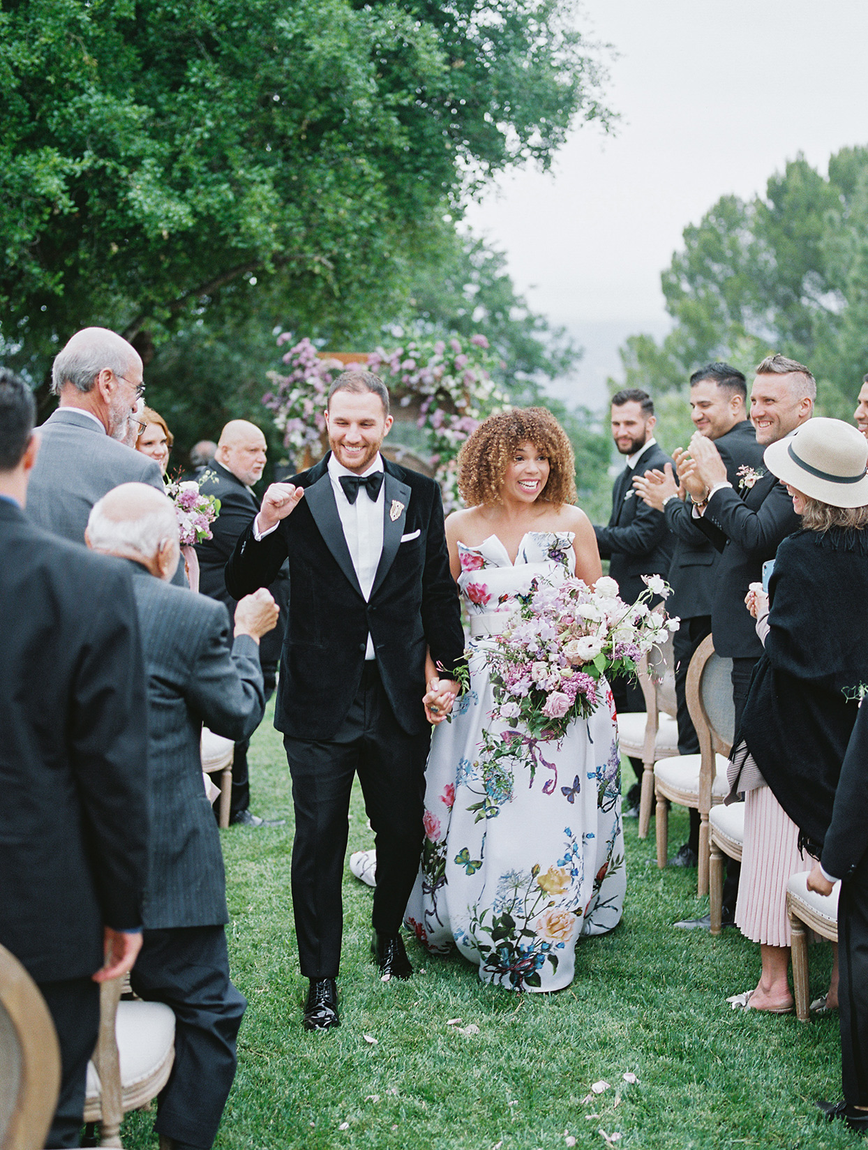 raina salih wedding couple ceremony recessional