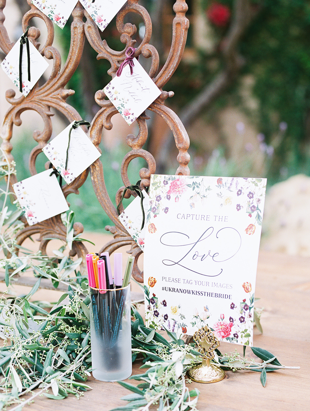 raina salih wedding guest book and social media sign