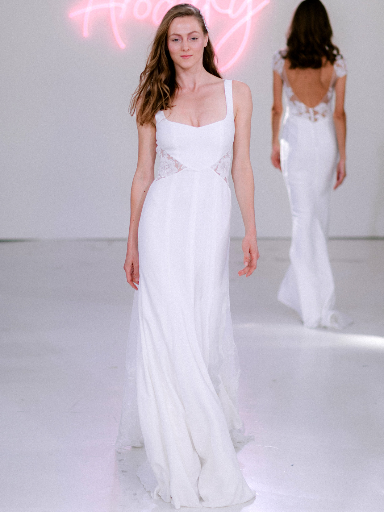 Rime Arodaky X The Mews Bridal thin strap square neckline wedding dress fall 2020